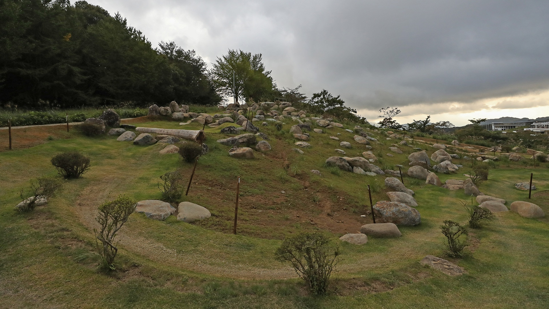 A general view of the Izu MTB Course during the mountain bike Tokyo 2020 test event in 2019