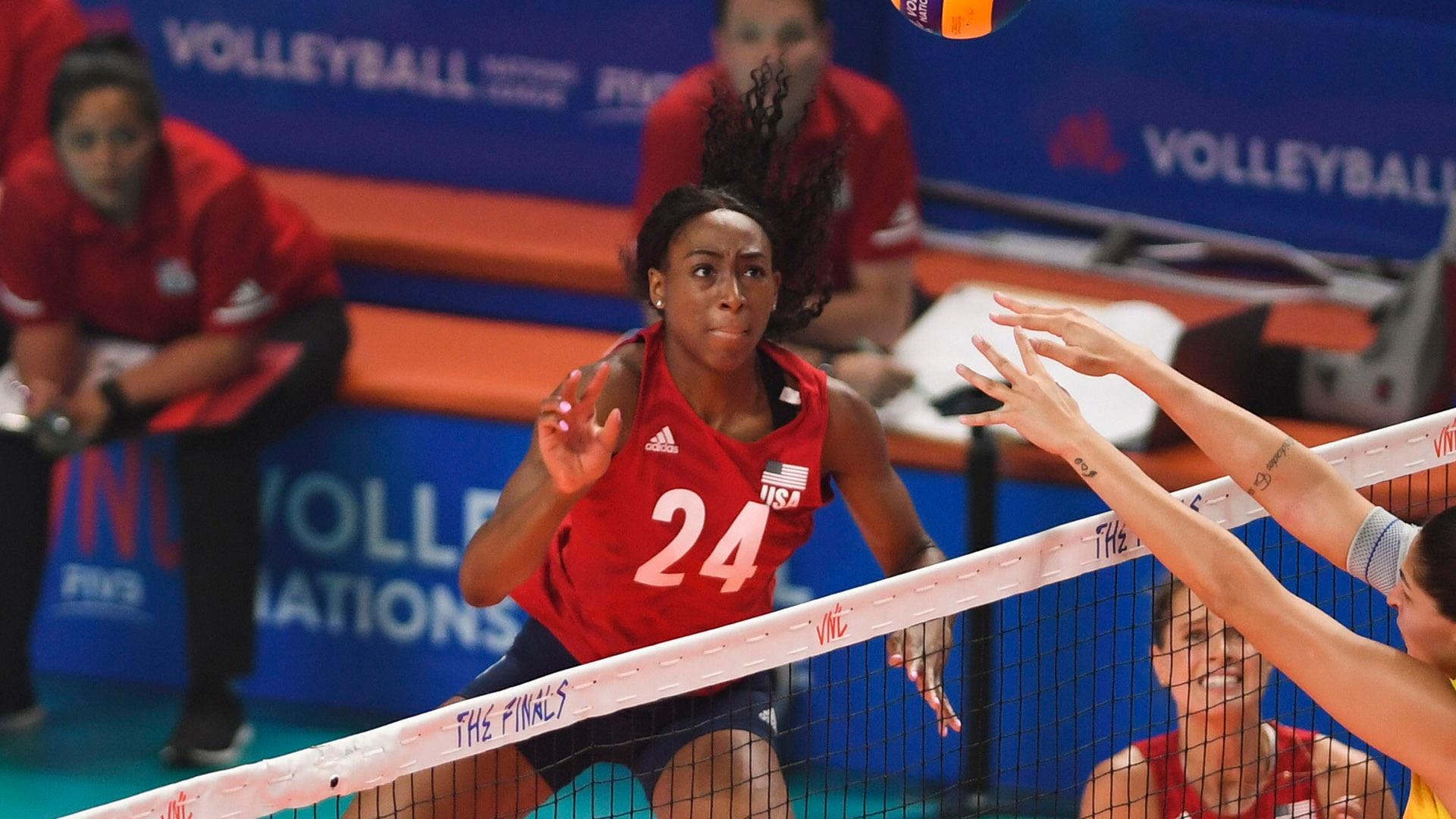 Chiaka Ogbogu at the 2019 VNL