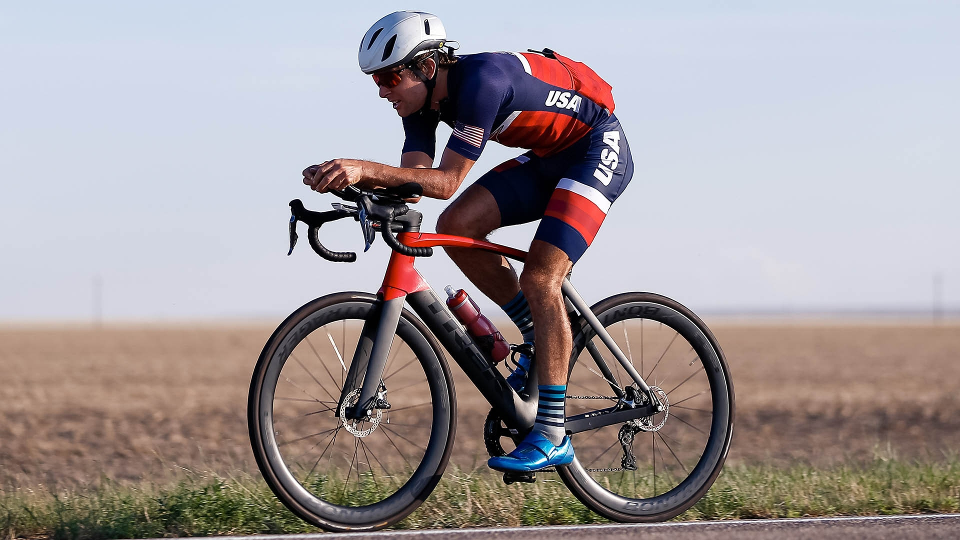 Kevin McDowell rides in the COVID Ride Across Colorado in 2020