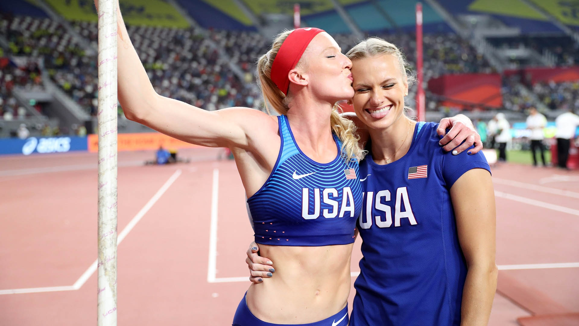 Sandi Morris and Katie Nageotte at 2019 Worlds