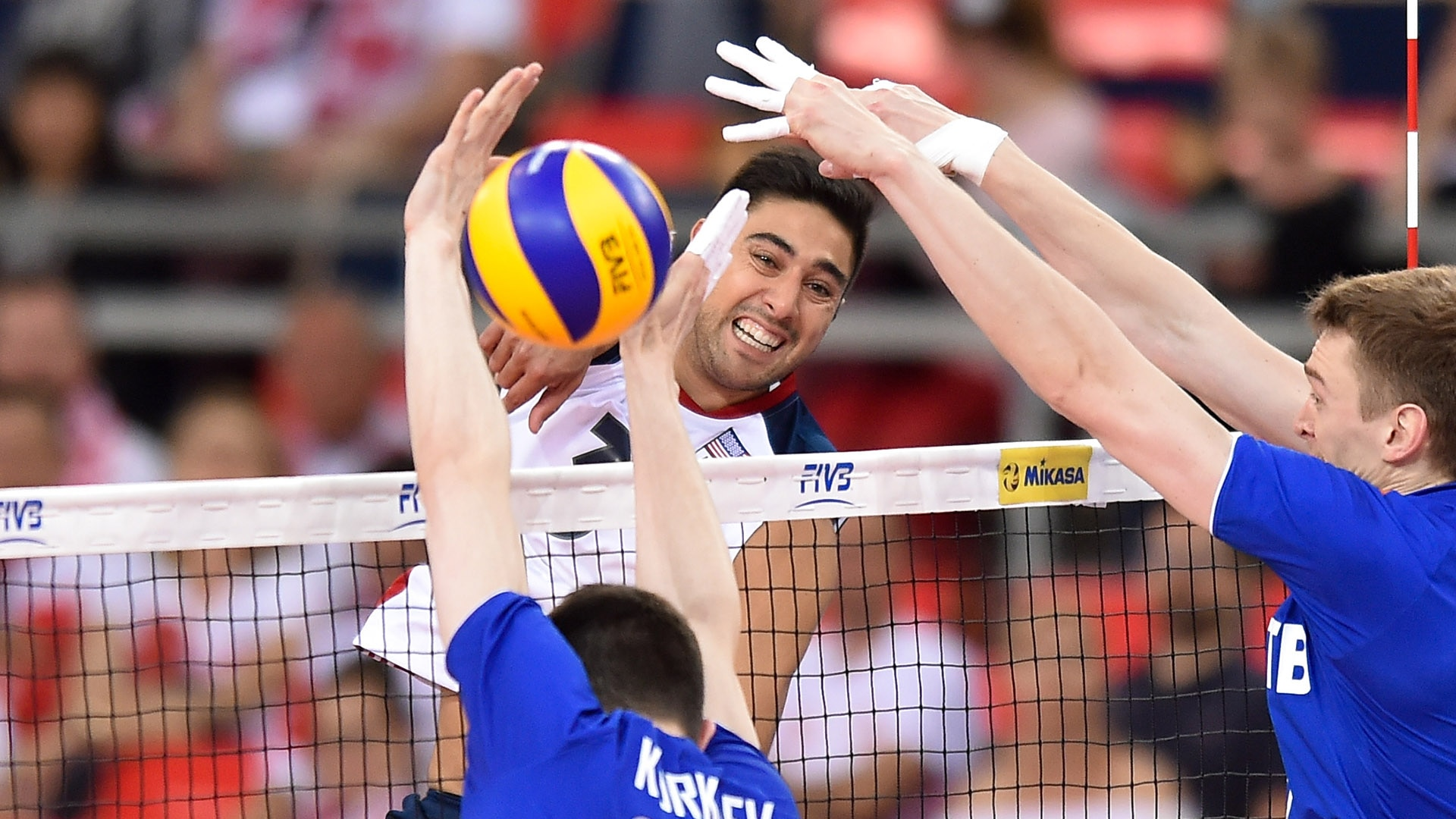 Taylor Sander in a 2017 World League game