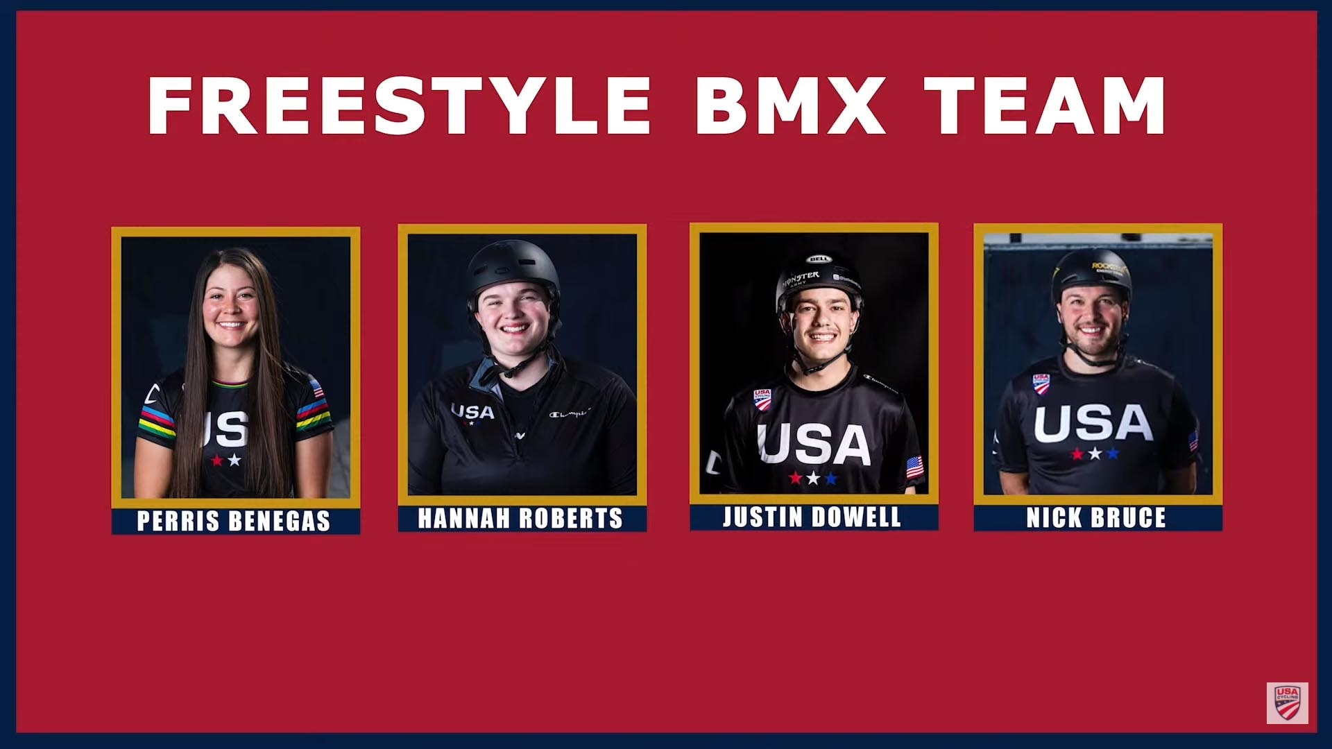 Team USA's BMX freestyle team roster for the Tokyo Olympics