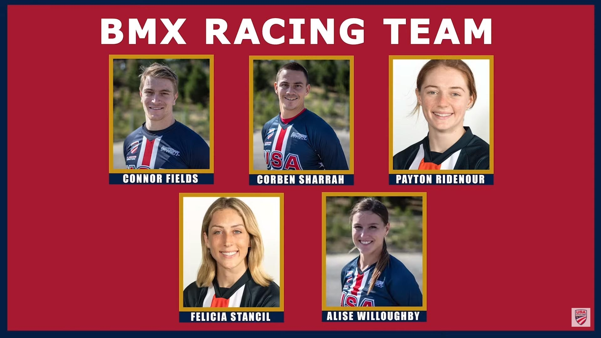Team USA's BMX racing team roster for the Tokyo Olympics