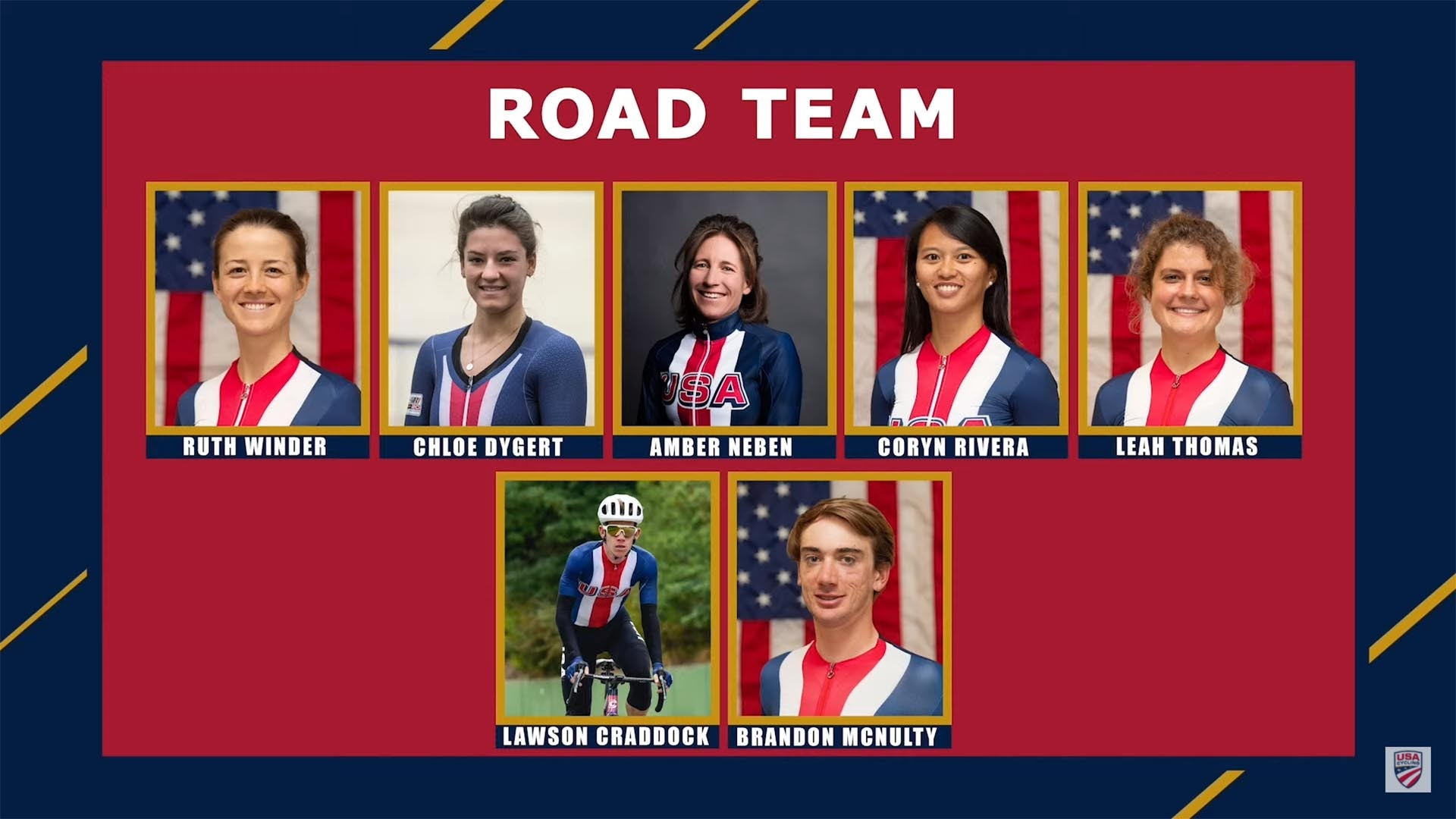 Team USA's road cycling team roster for the Tokyo Olympics