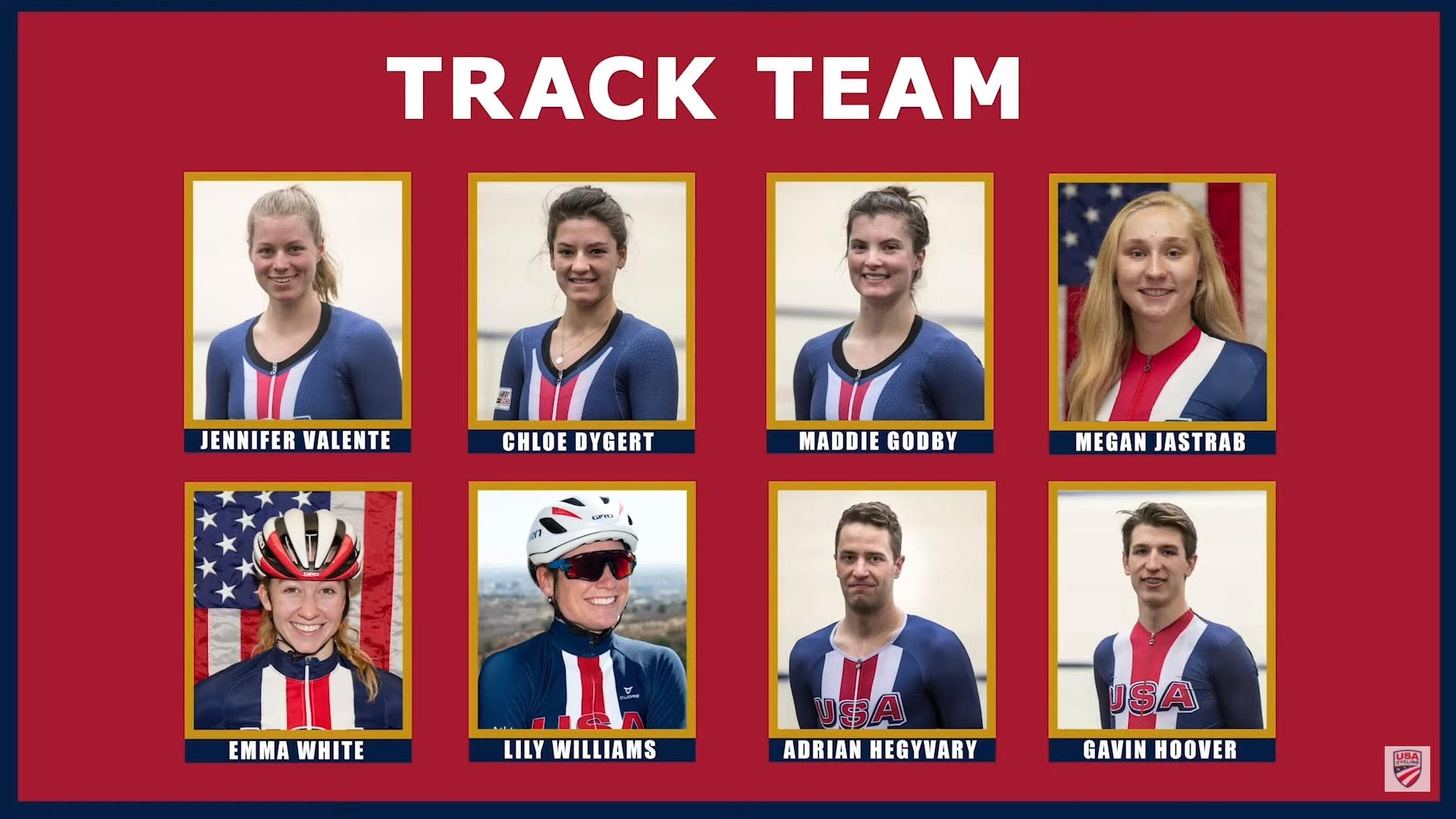Team USA's track cycling team roster for the Tokyo Olympics