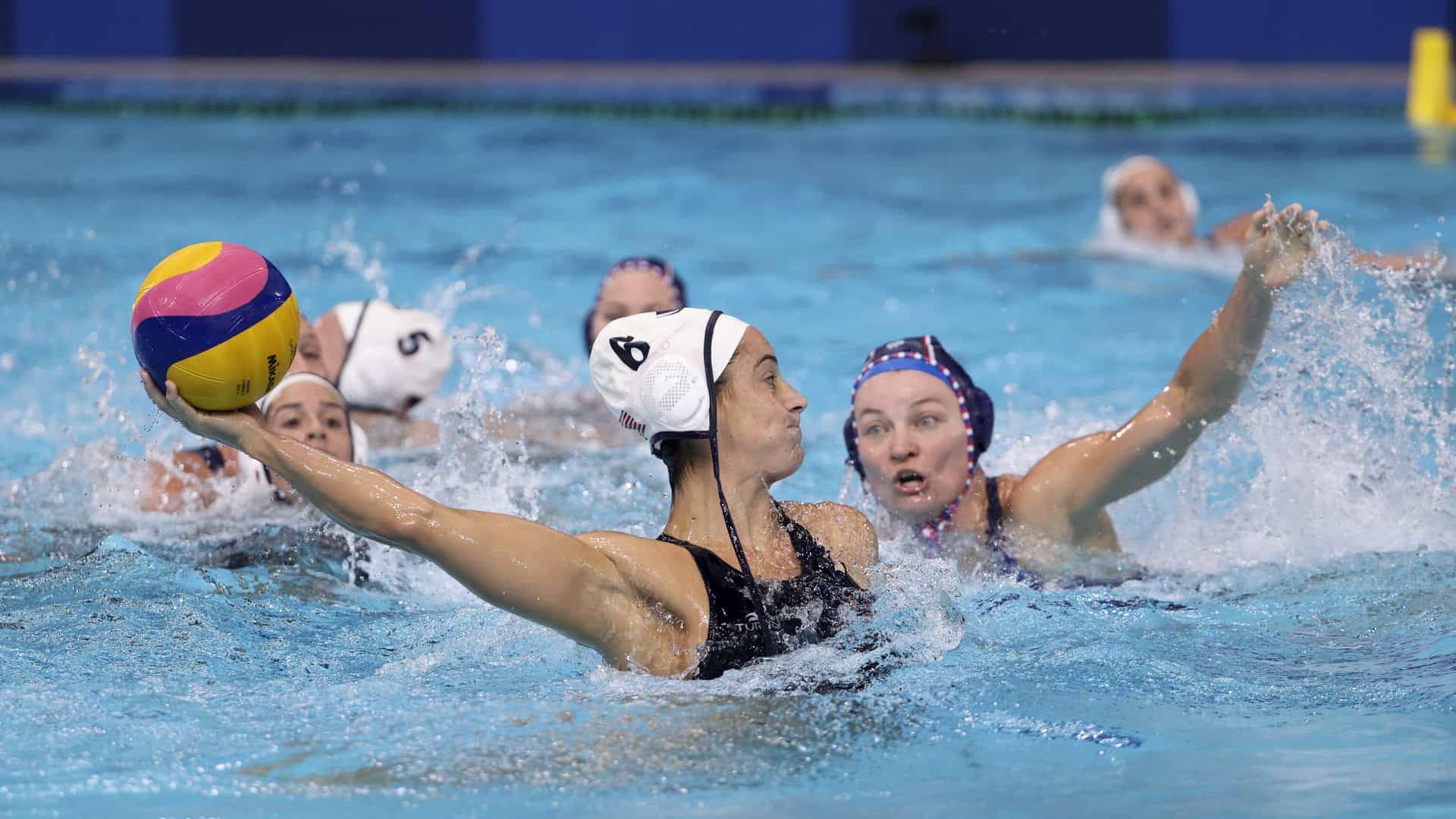 Image for U.S. women's water polo back on track with 18-5 win over ROC