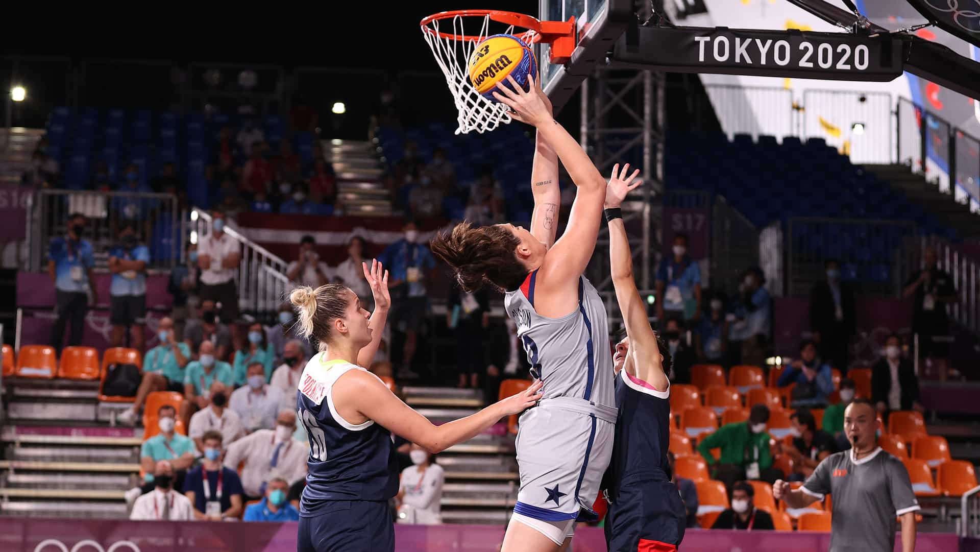 Image for U.S. bests ROC to win inaugural women's 3x3 basketball gold