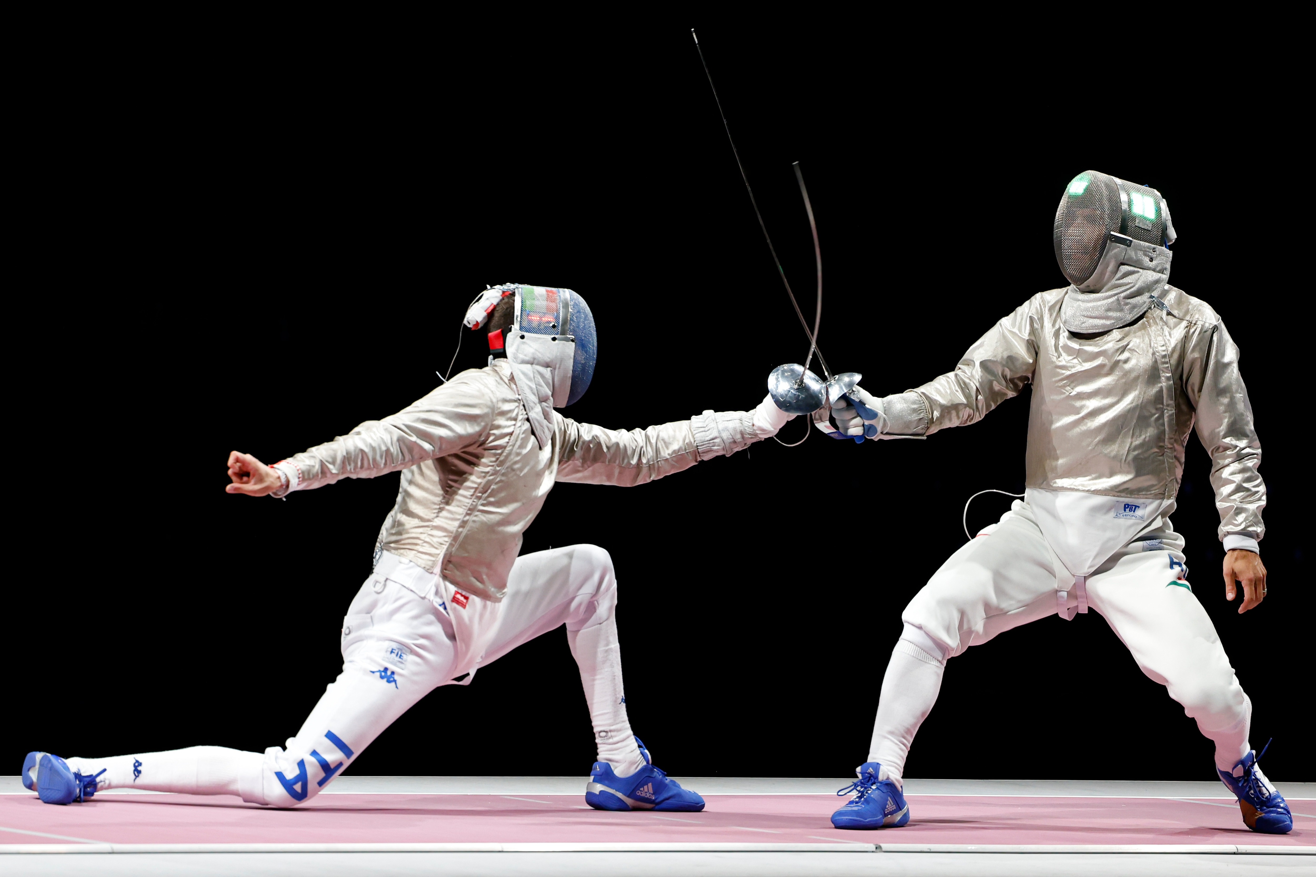 Aron Szilagyi, Sun Yiwen make history with wins in gold-medal fencing matches (credit: Getty...