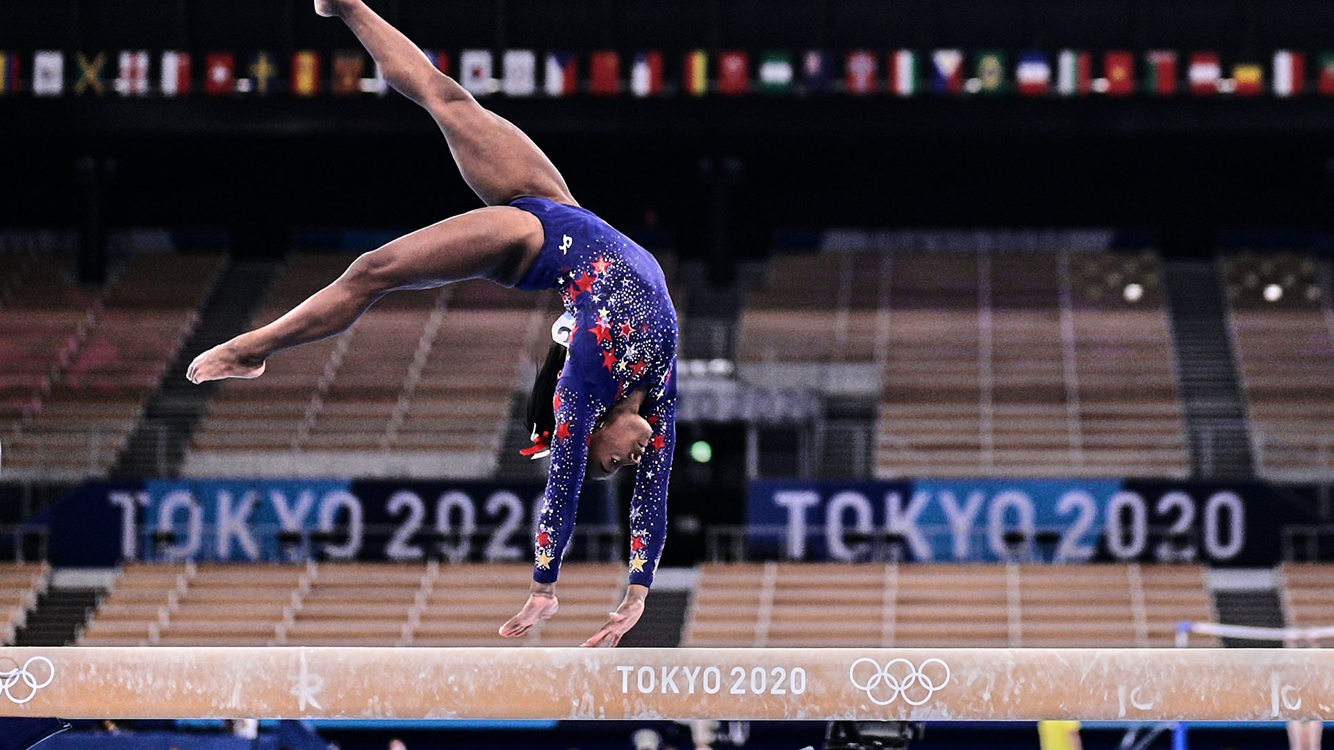 Simone Biles and the U.S. women enter the final after trailing another team, the Russian Olympic Committee, in qualification for the first time at a major international championship since 2010.