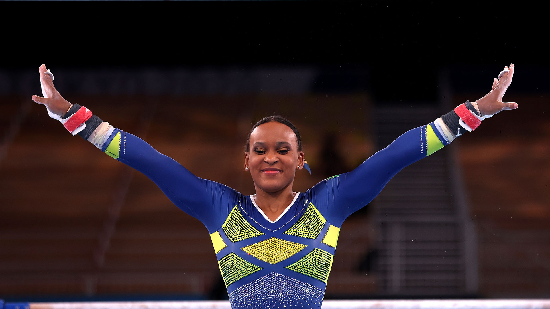 Image for Rebeca Andrade wins silver in All-Around, Brazil's first women's gymnastics medal