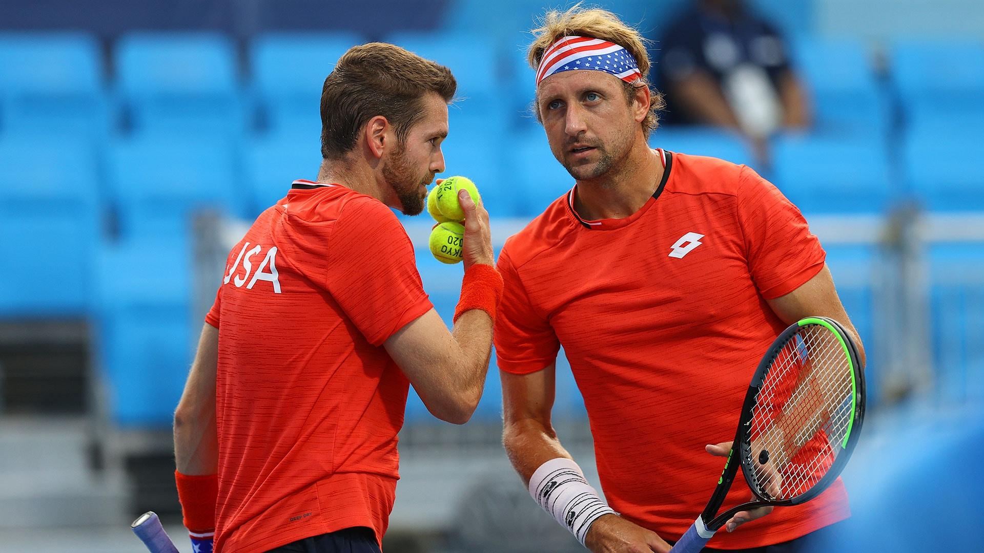 Image for Krajicek and Sandgren, last hope for U.S. in tennis, fall in bronze medal match