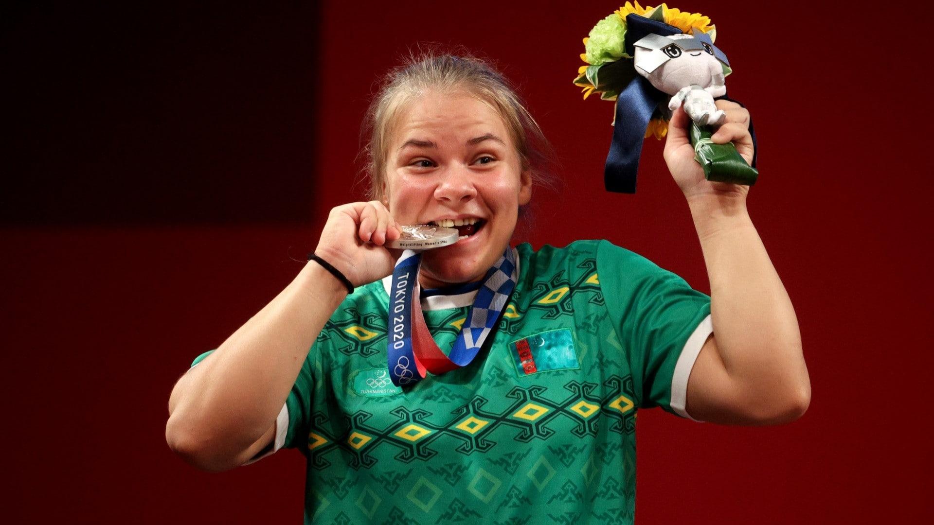 Turkmenistan's Polina Guryeva takes home silver (credit: Getty)
