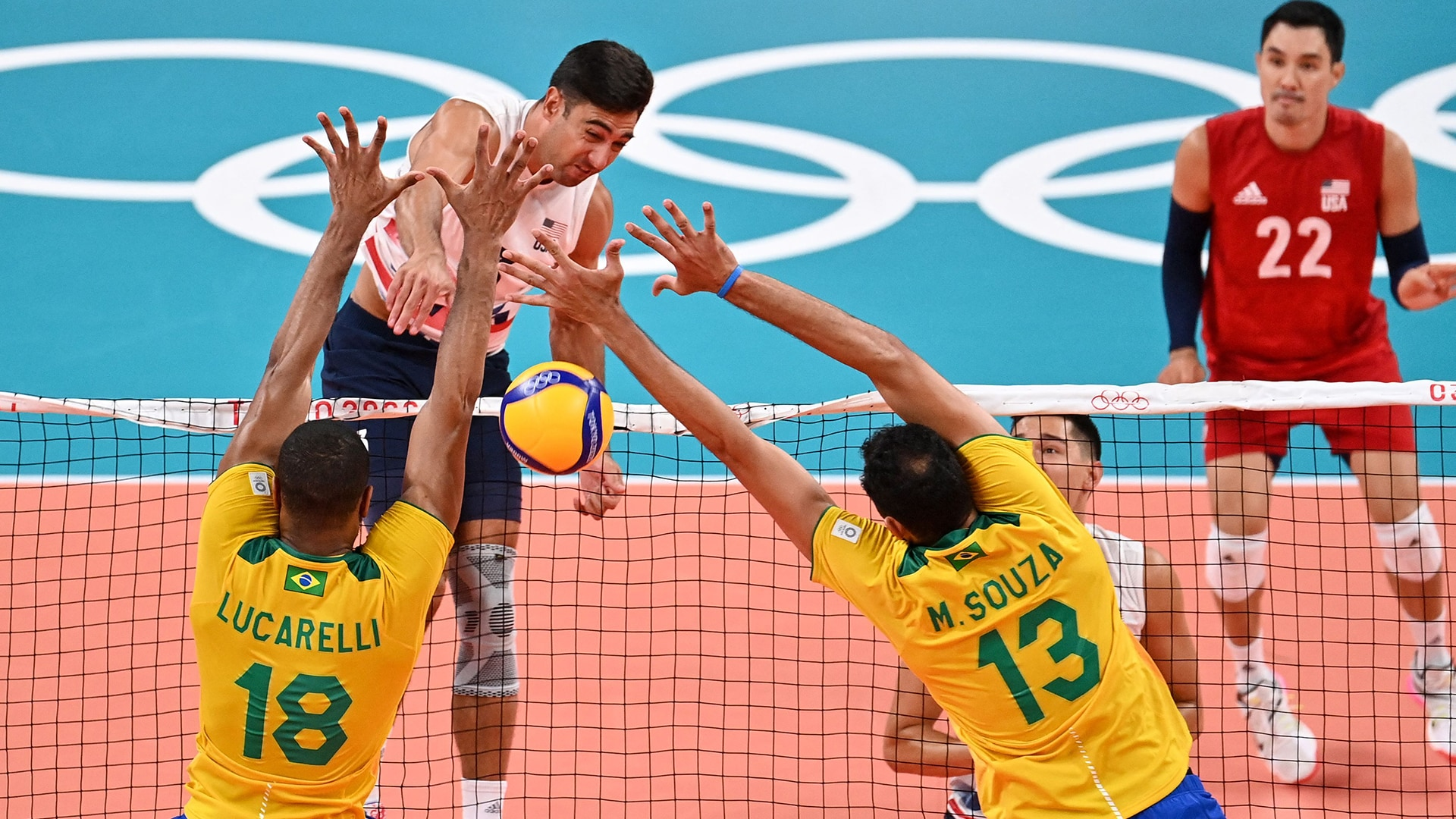 Image for USA men's volleyball falls to familiar foe in Brazil