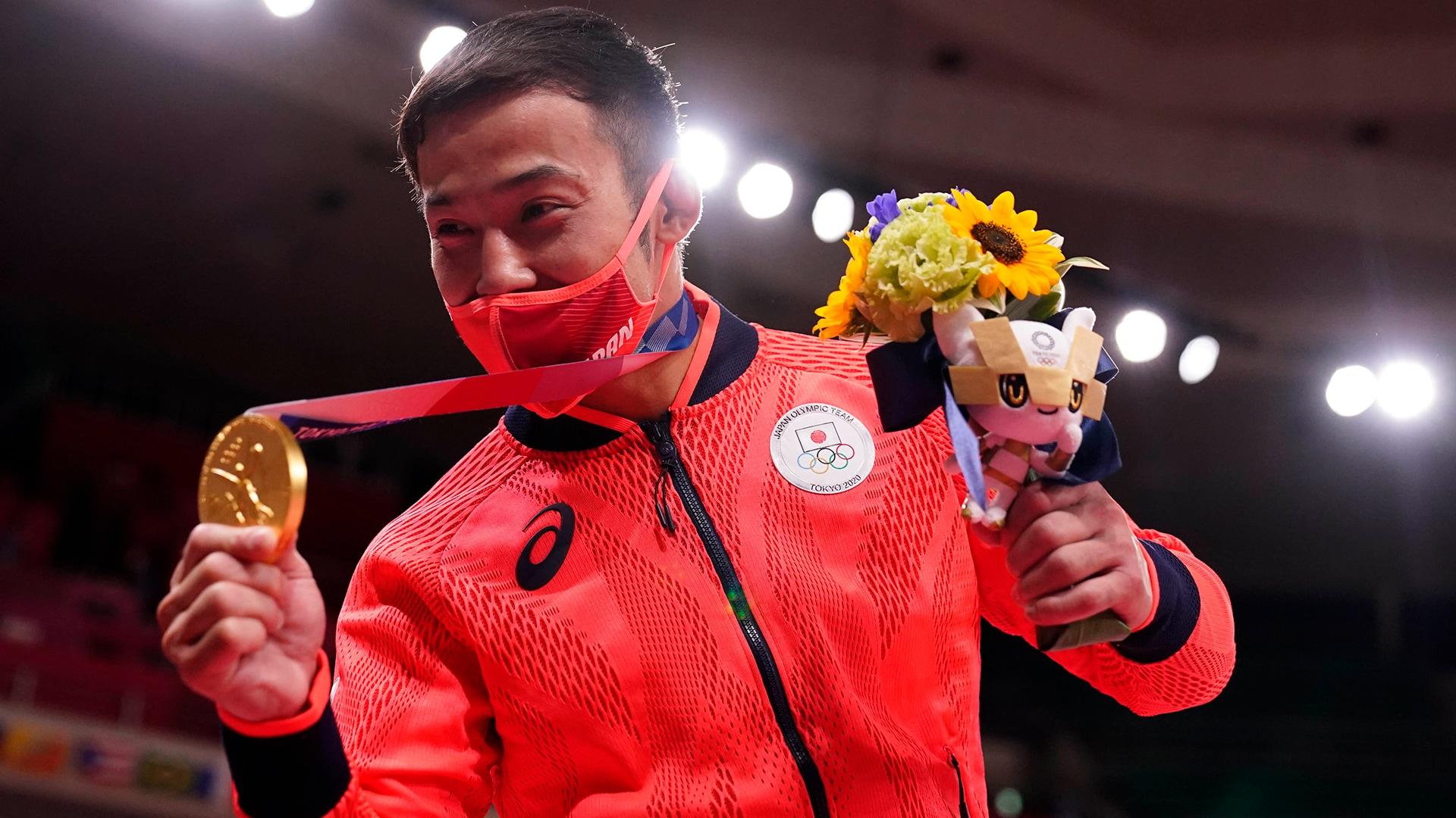 Naohisa Takato won judo gold medal on his home turf. (credit: Mandi Wright-USA TODAY Network)