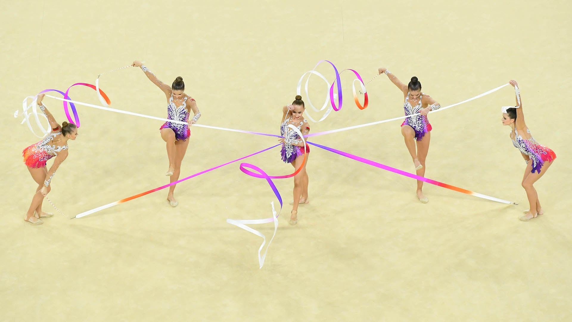 Rhythmic gymnastics competition kicks off on August 5 at the Tokyo Olympic Games. (credit: USA...