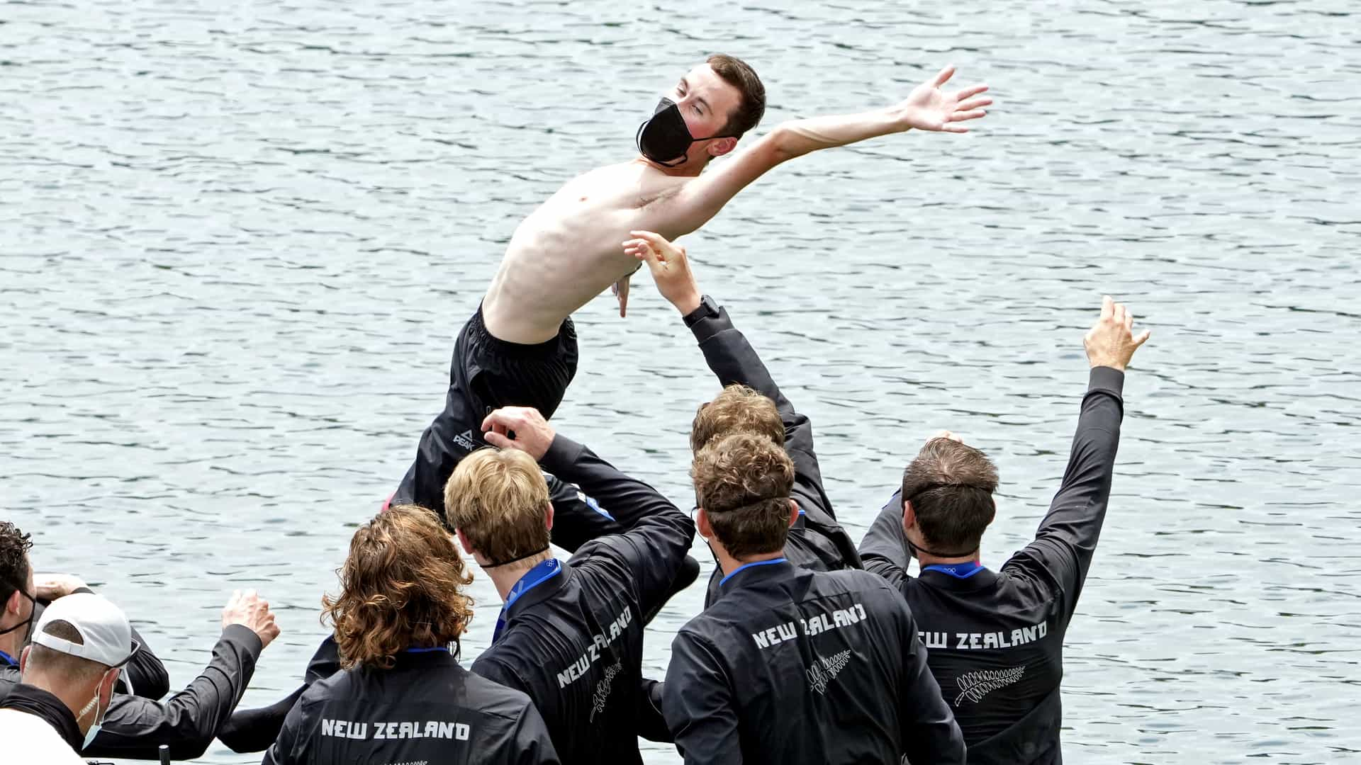 Image for Olympic Rowing Day 7: Kiwi men, Canada women golden in eights; single-sculls gold for Greece, New Zealand