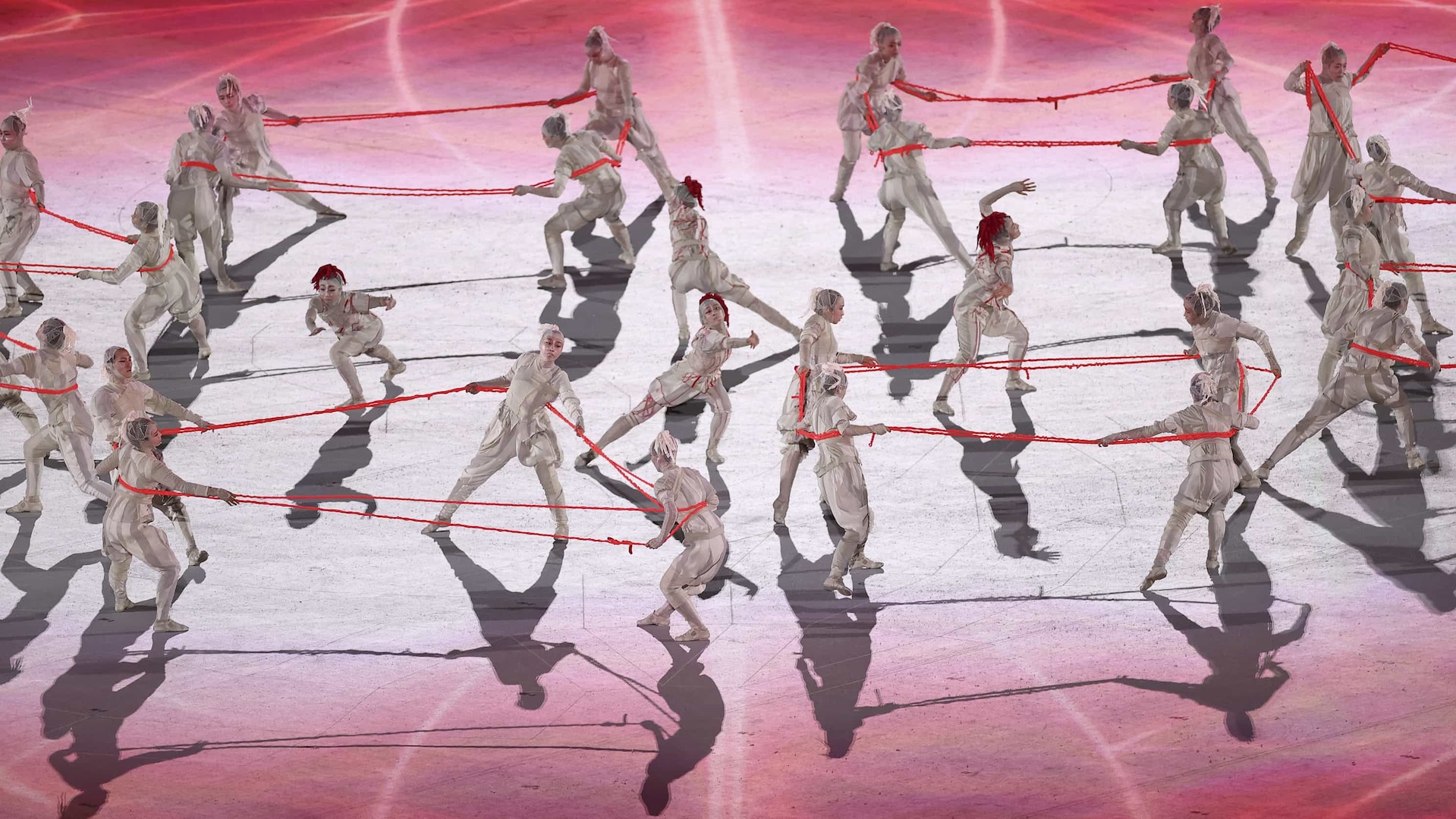 Dancing performance during the opening sequence of the 2020 Tokyo Olympic Games