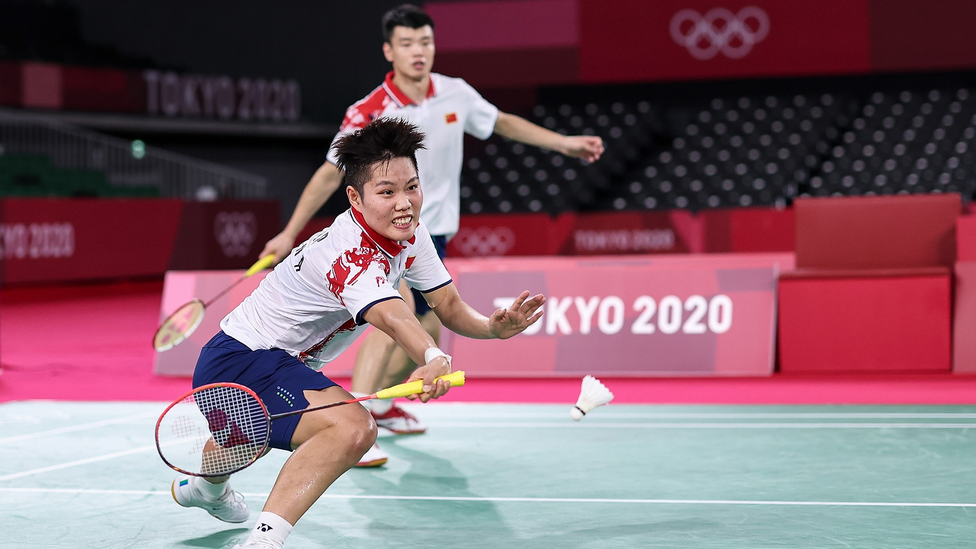 Image for Wang, Huang defeat top-seeded Siewi, Huang to win badminton mixed doubles gold