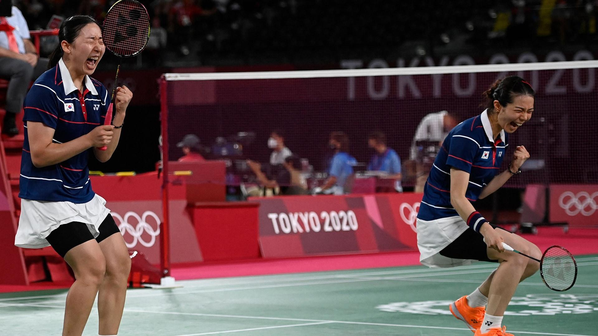 Image for South Korea outlasts Japan to score badminton women's doubles semifinal berth