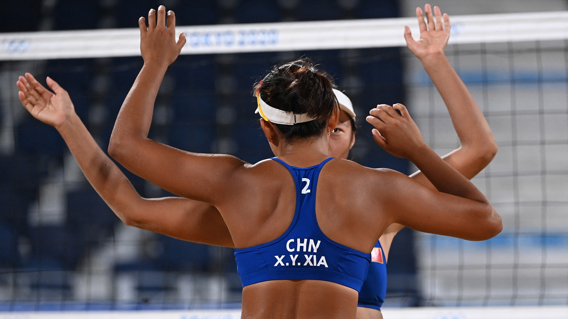 China took down Brazil in a surprising upset in beach volleyball pool play Tuesday. (credit:...