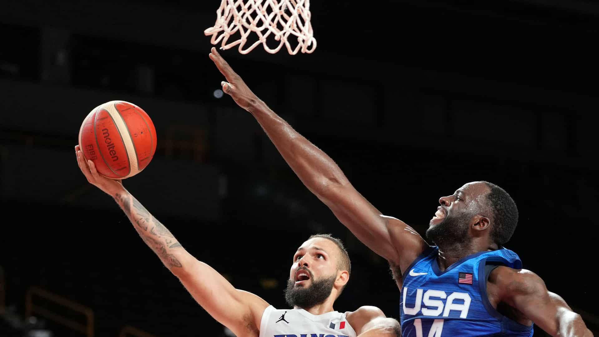 France's Evan Fournier had the better of the U.S. men's basketball team in their opener Sunday....