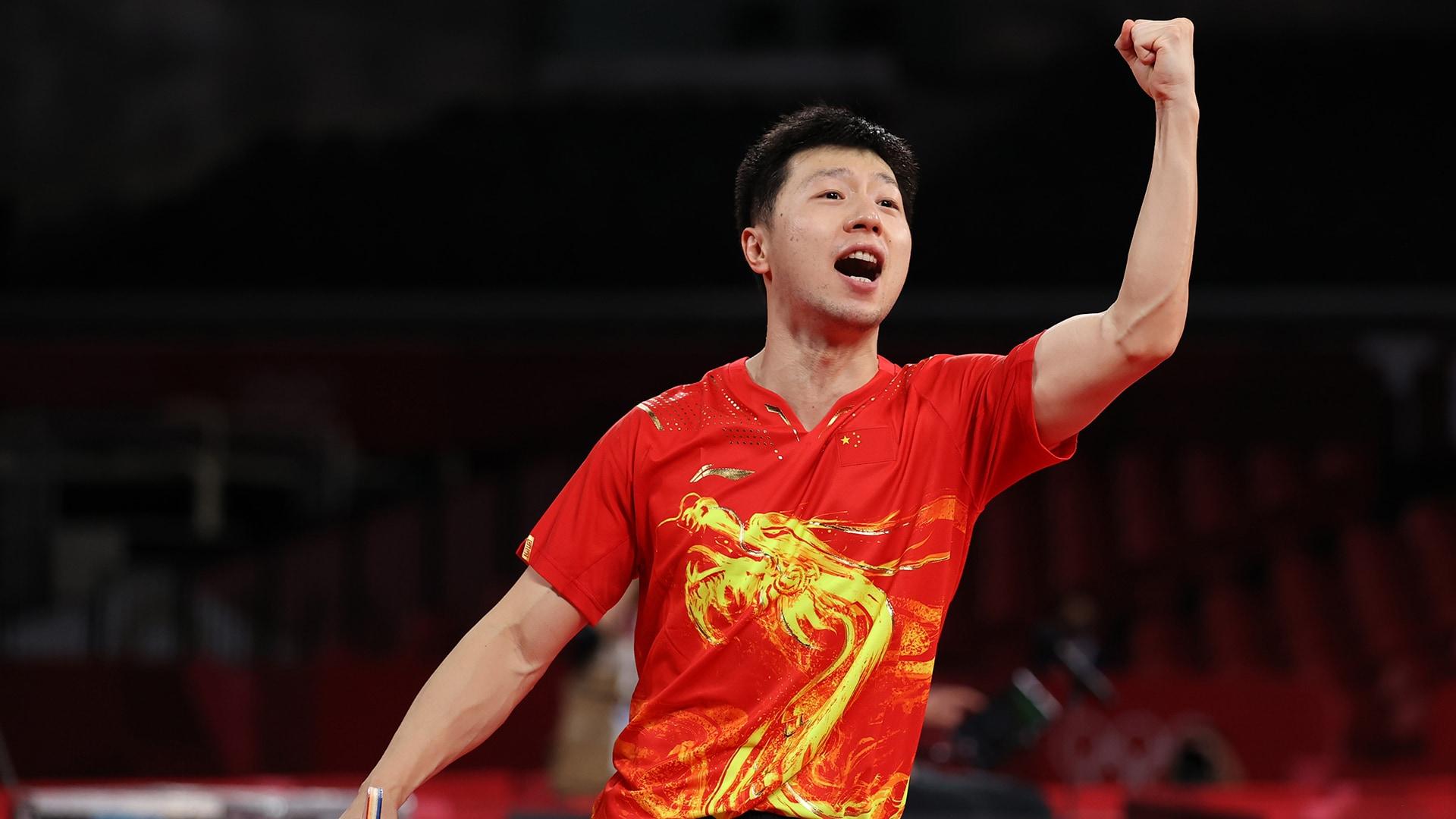 Image for Ma Long back on top following win over Fan Zhendong in men's singles final