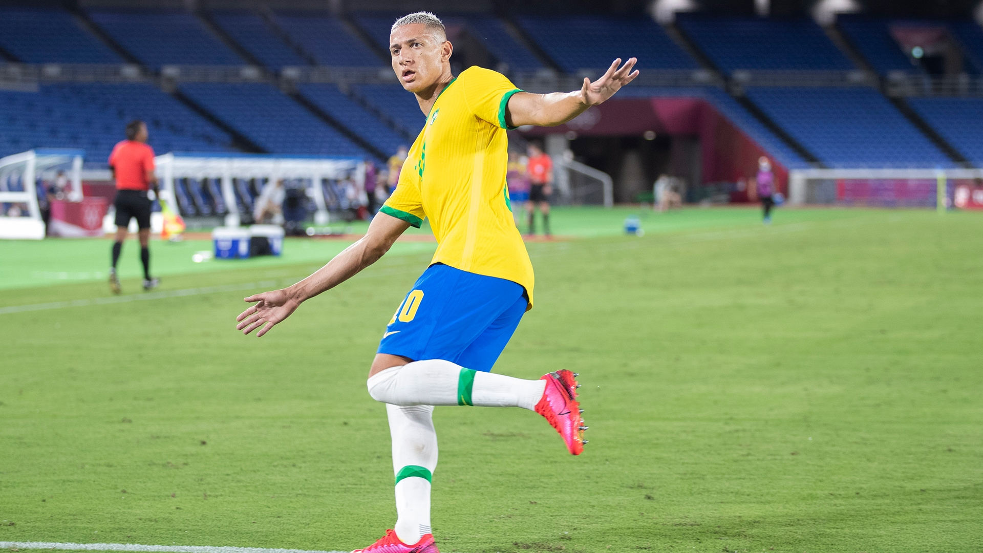 Image for Richarlison hat trick powers Brazil to win over Germany in rematch of Rio final