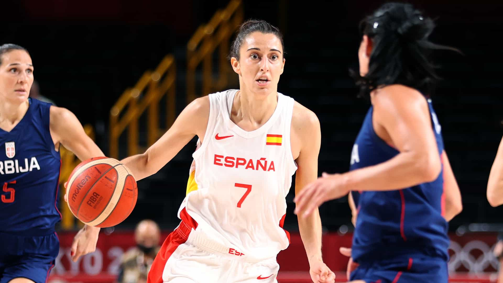 Image for Spain beats Serbia to stay unbeaten in women's basketball