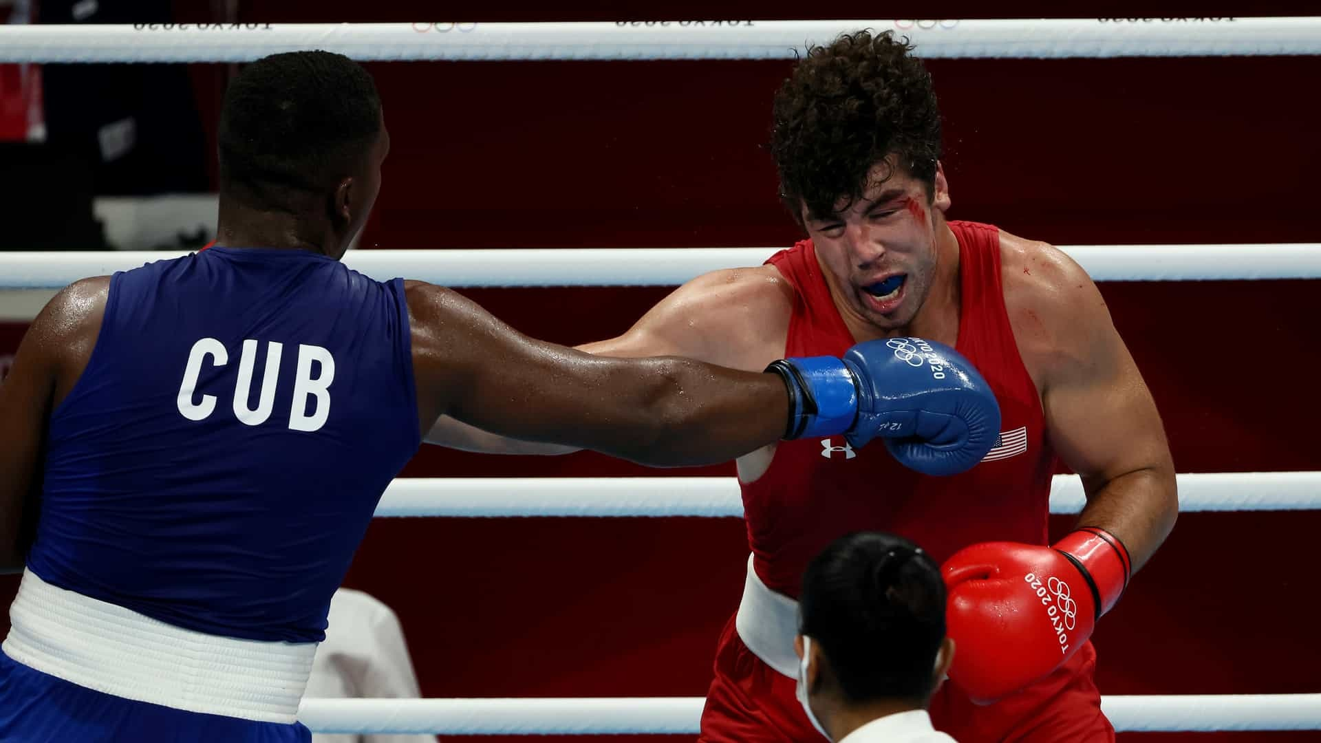 U.S. boxer Richard Torrez squares off against Cuba's Dainier Pero in super heayweight quarterfinal action at the 2020 Tokyo Olympic Games.