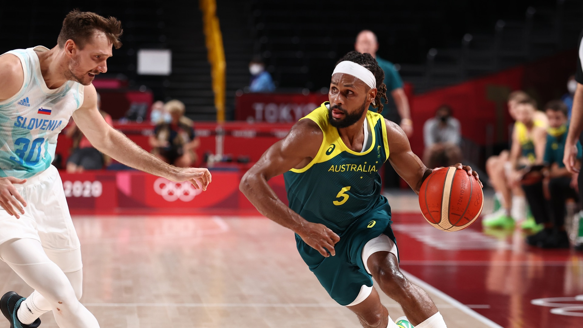 Patty Mills and the Australia men's basketball team face Slovenia in the bronze medal game at the 2020 Tokyo Olympics.