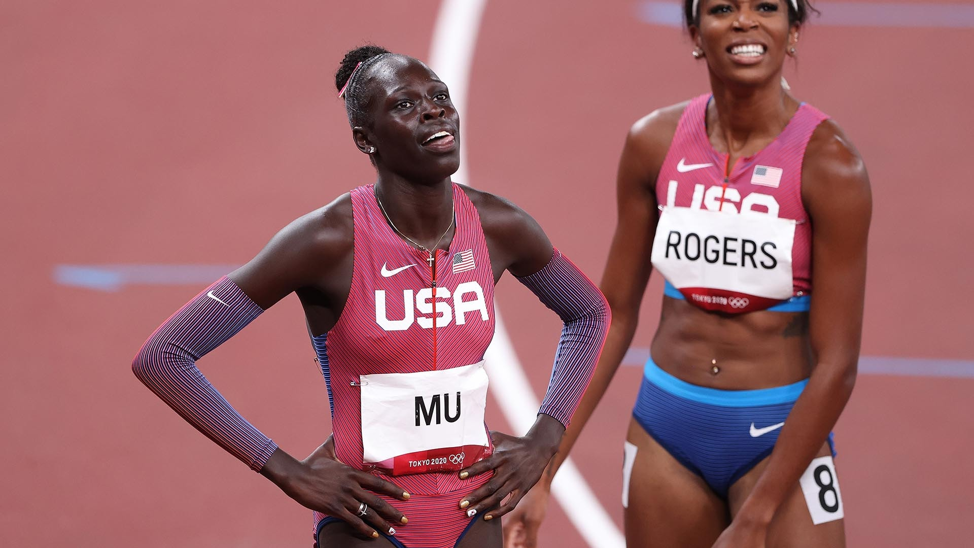 Image for Athing Mu, 19, ends half-century U.S. drought with women's 800m gold