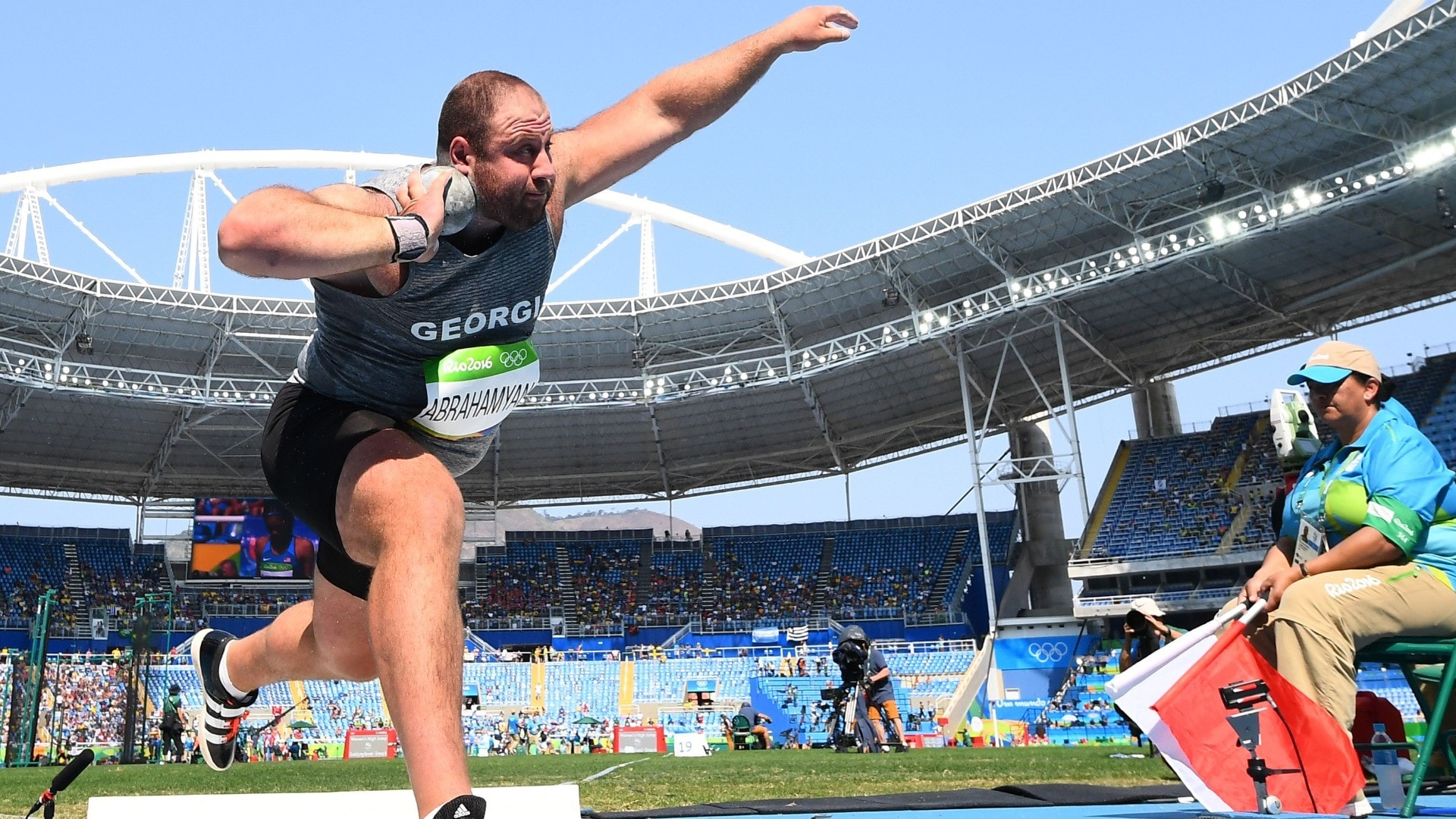 Image for Georgian shot putter suspended after failed steroid test