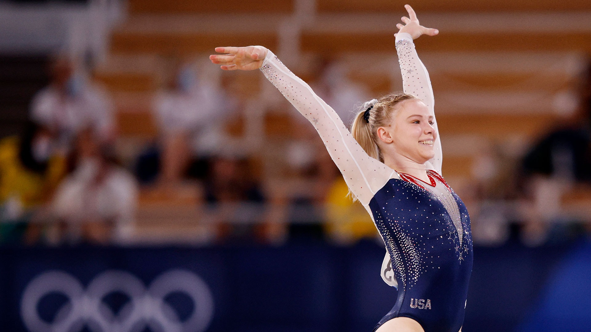 Jade Carey, competing as an individual specialist, claimed gold in her final chance in Tokyo....