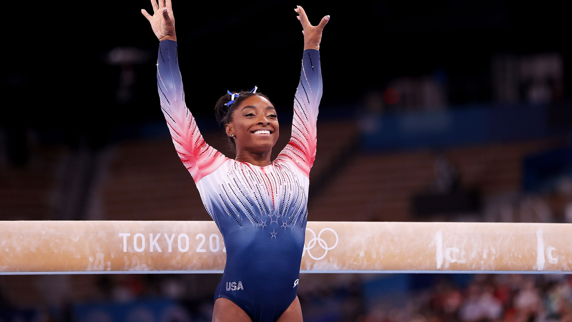 Image for Simone Biles wins bronze medal in Olympic beam final