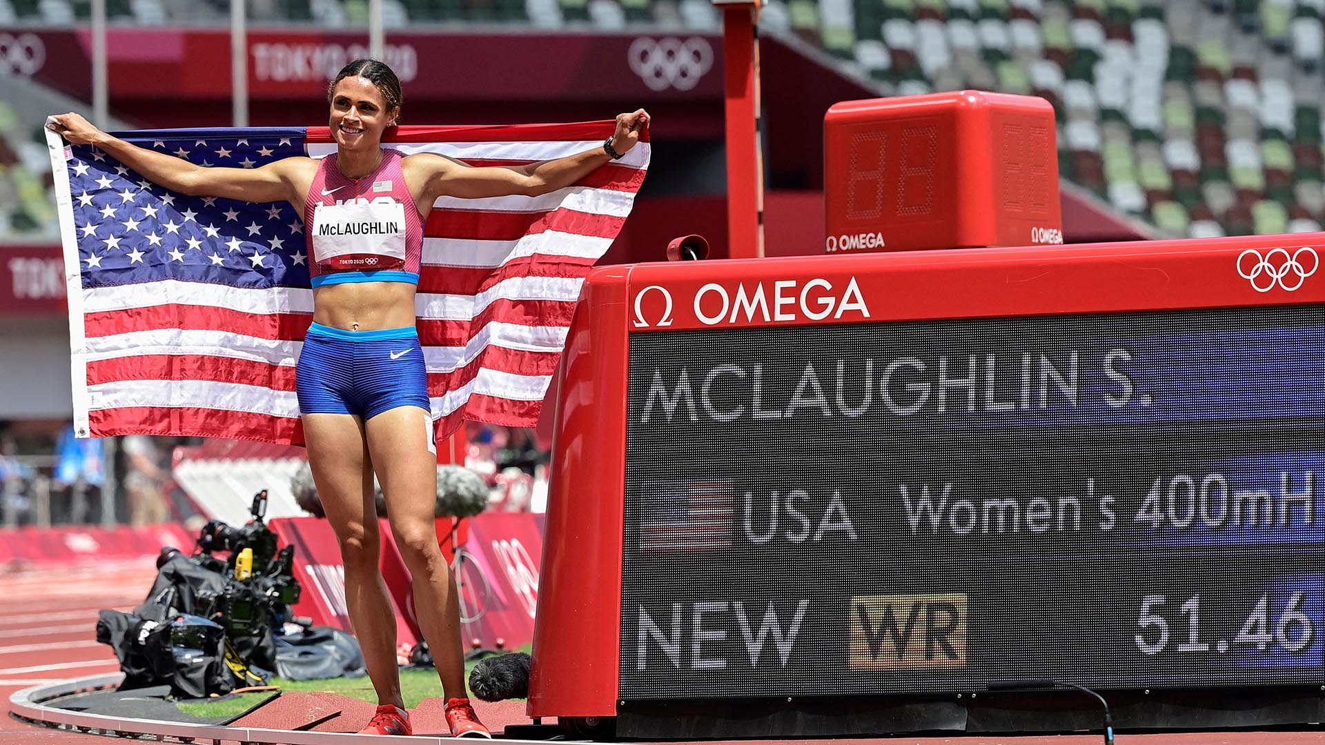 Image for McLaughlin shatters own 400mH WR in 51.46 for Olympic gold