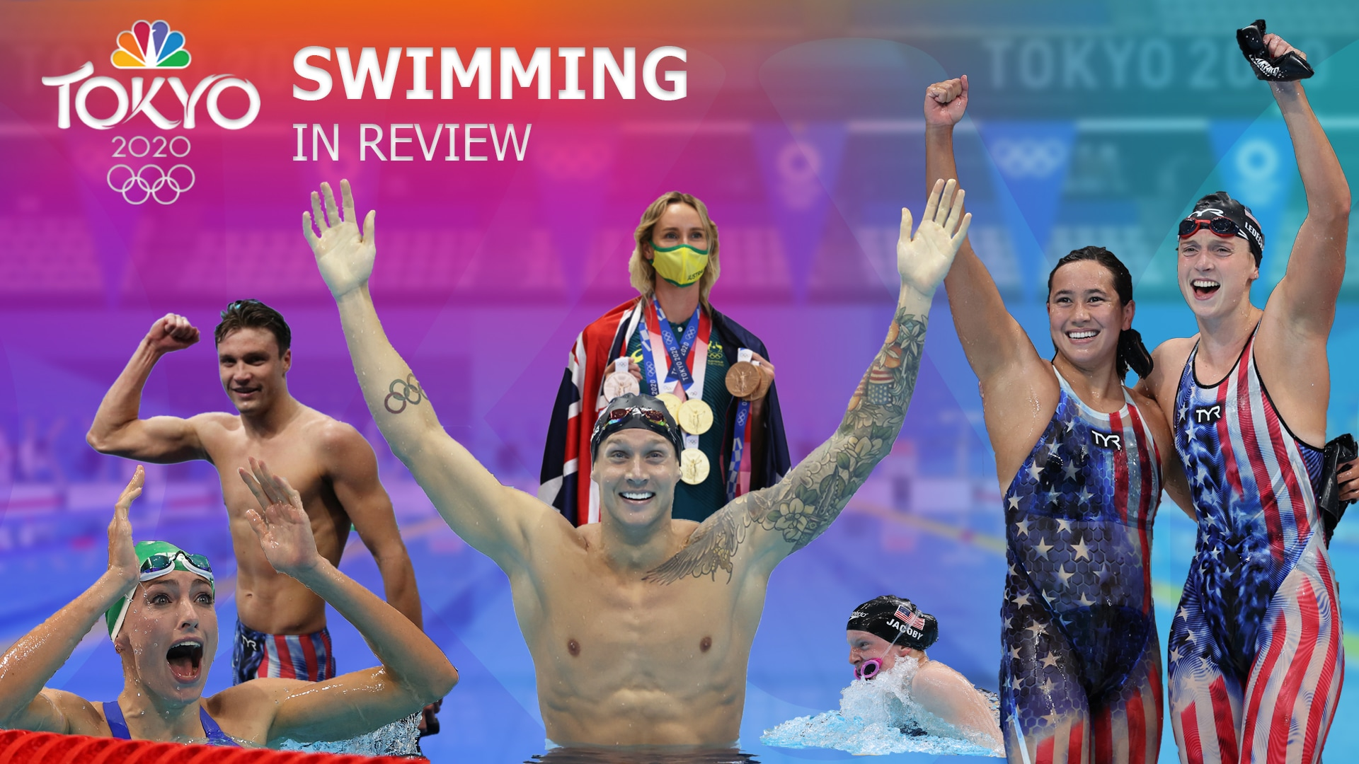 Relive an unforgettable nine days of swimming at the Tokyo Olympics. (credit: NBC Olympics)