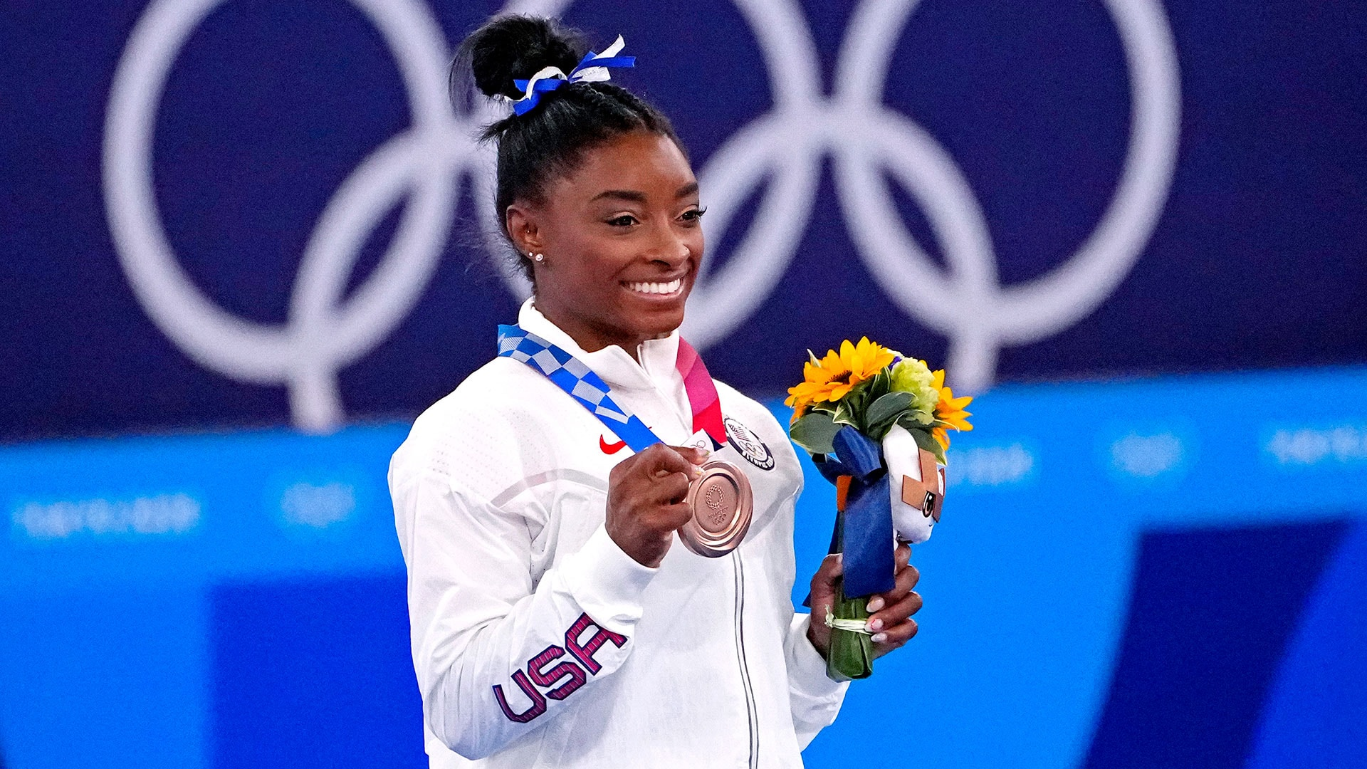 Simone Biles opened up about her experience at the Tokyo Olympics after winning bronze on...