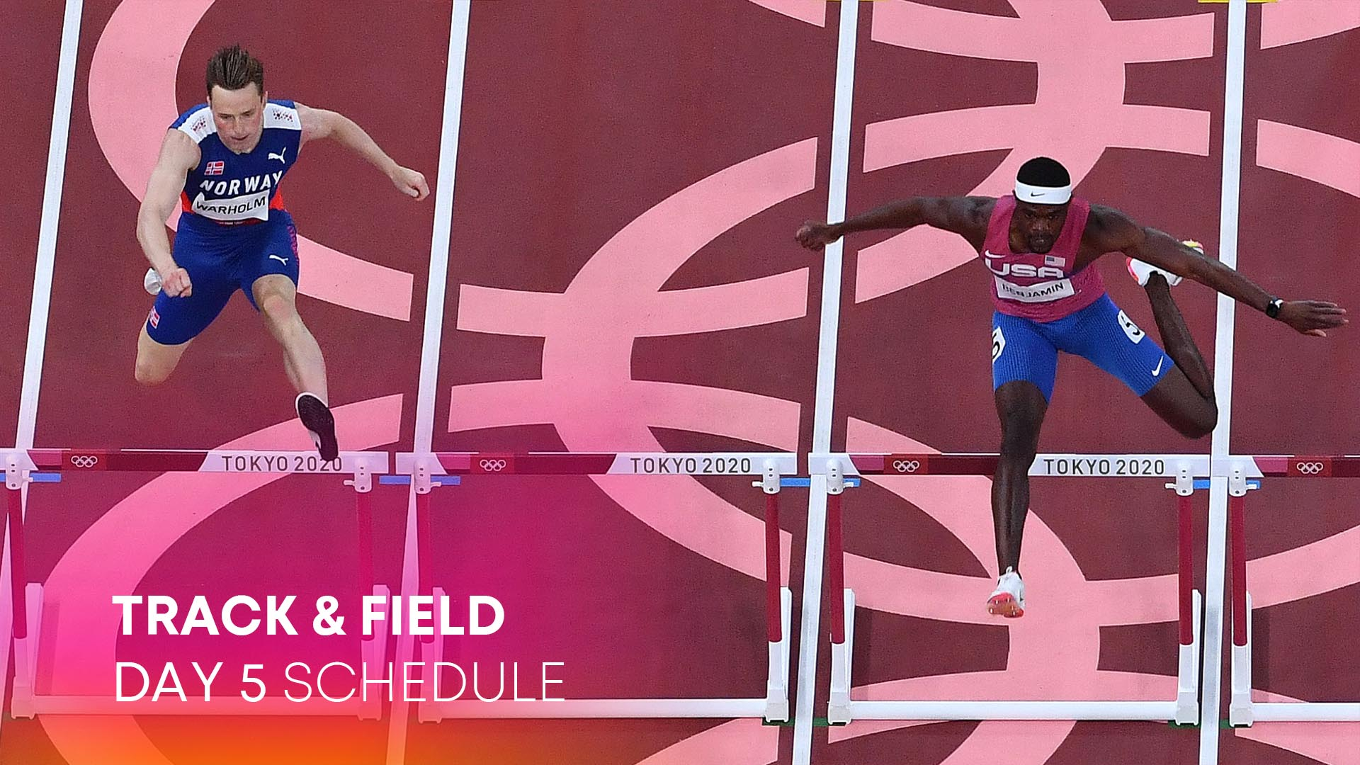 Image for Track & Field Day 5: At last, Warholm, Benjamin clash for gold
