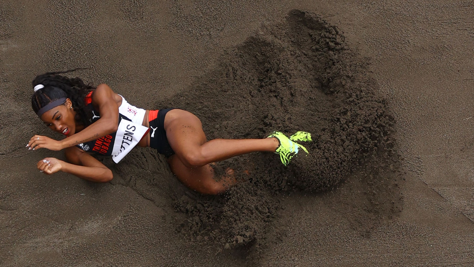 Tyra Gittens competes in the Women's Long Jump final on day eleven