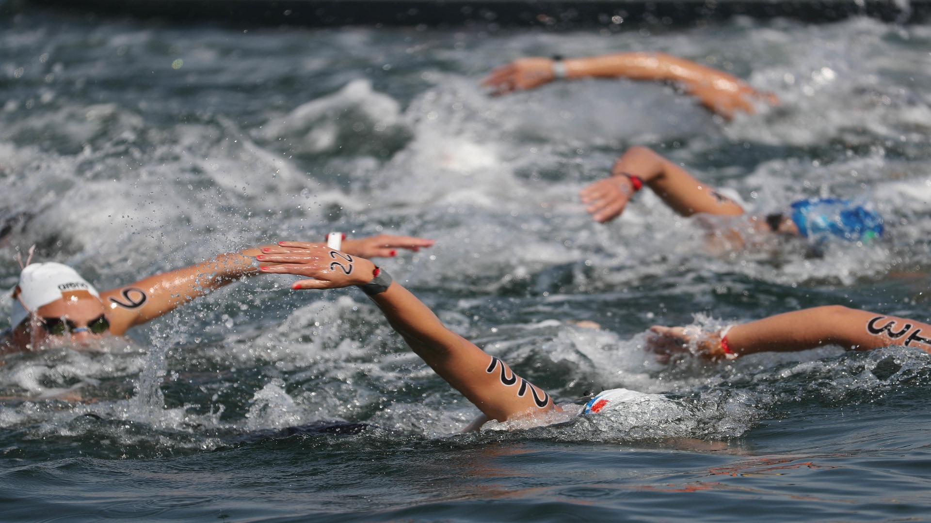 Image for Brazil's Ana Marcela Cunha takes open-water swimming gold