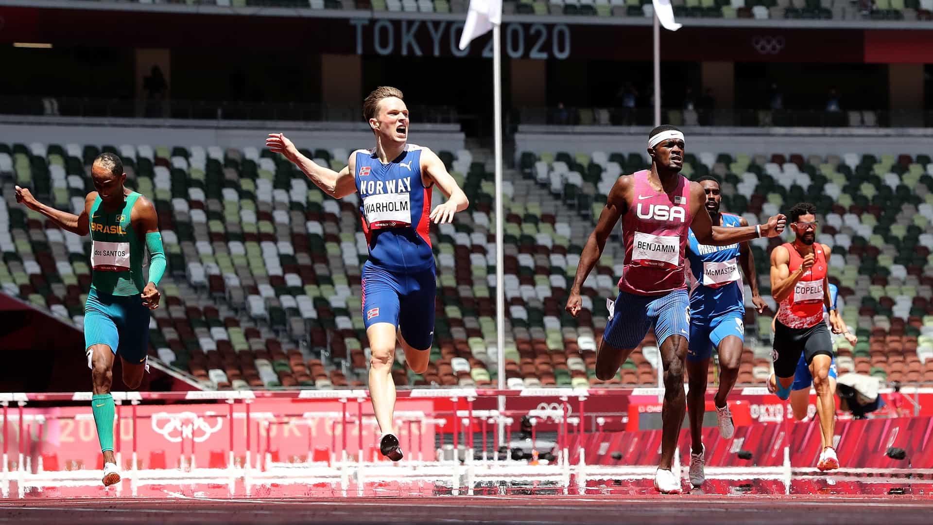 Image for Abrahamson: Warholm, Benjamin deliver greatest 400m hurdle race in human history