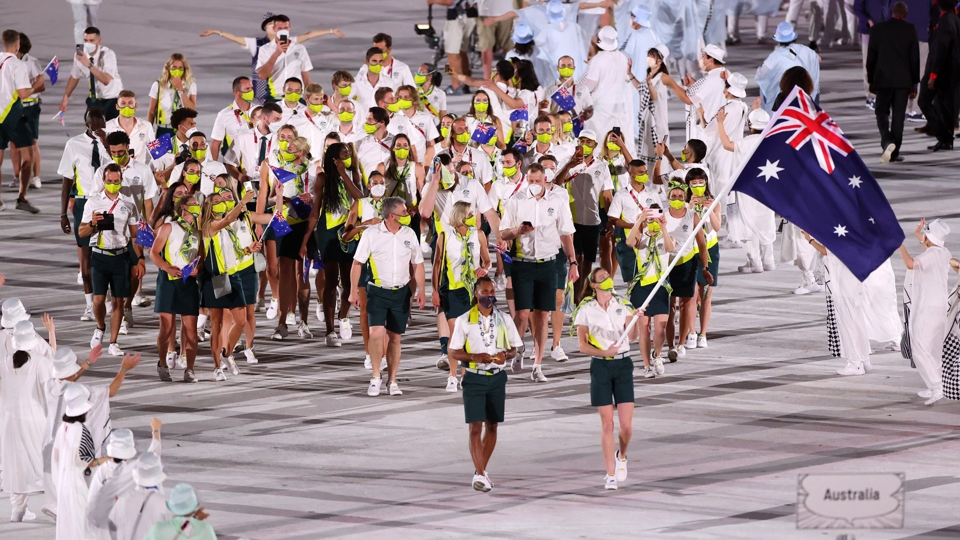 Image for Australia: Athletes sorry for room damage, mascots 'unharmed'