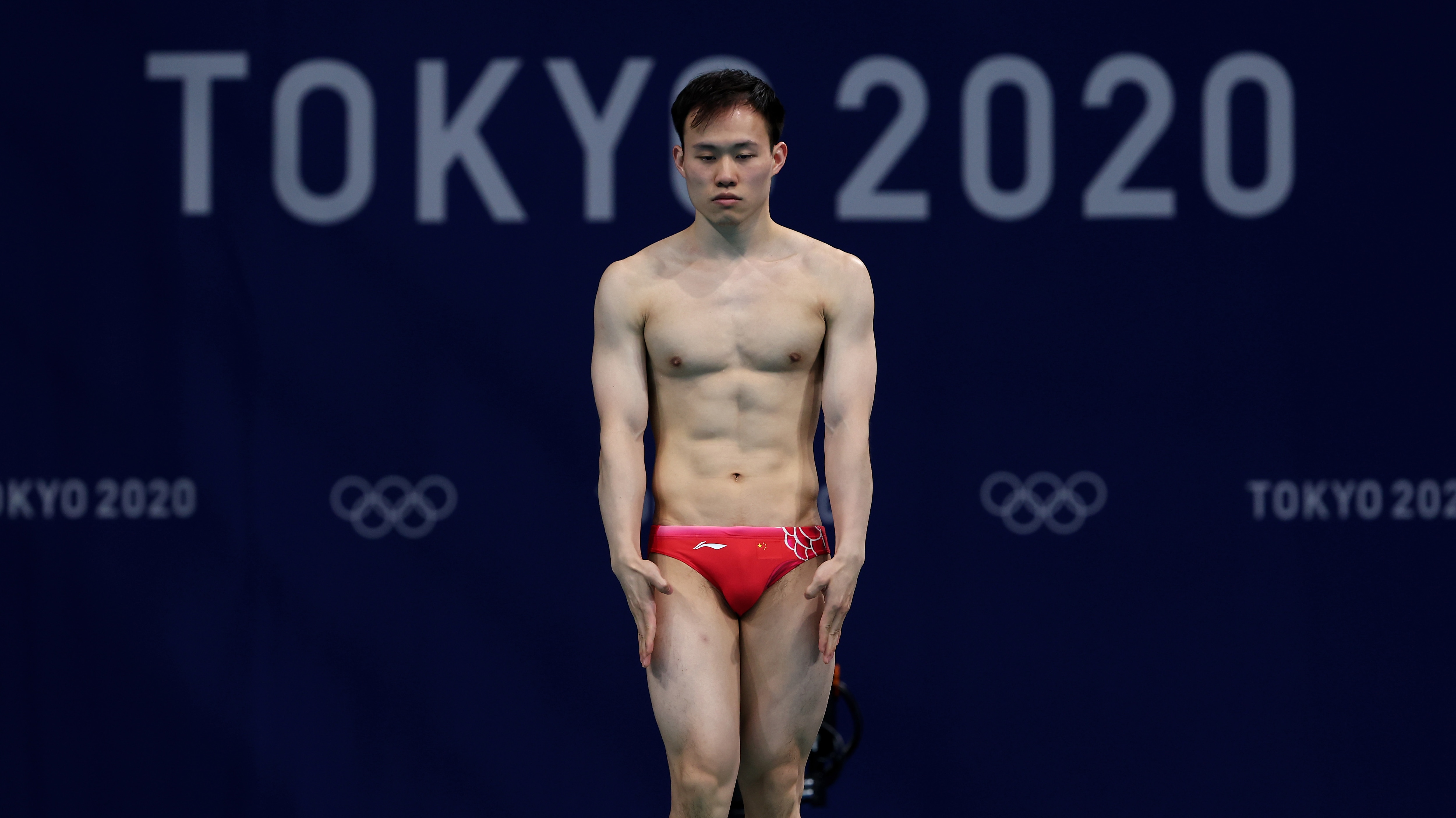 Image for China goes one-two in men's 3m springboard, closing with breathtaking dives