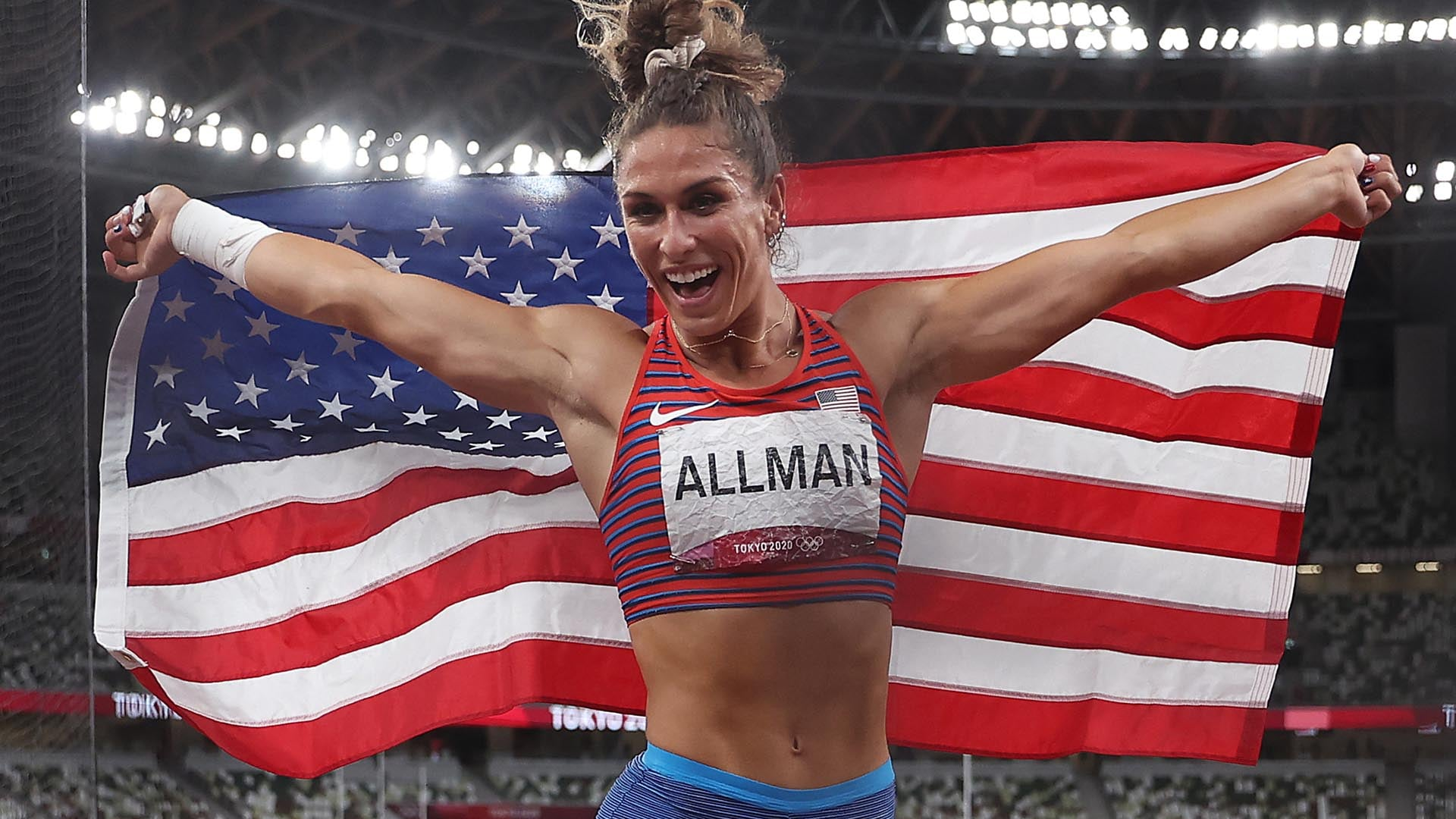 Image for Allman wins discus gold, first of Tokyo Games for U.S. track and field