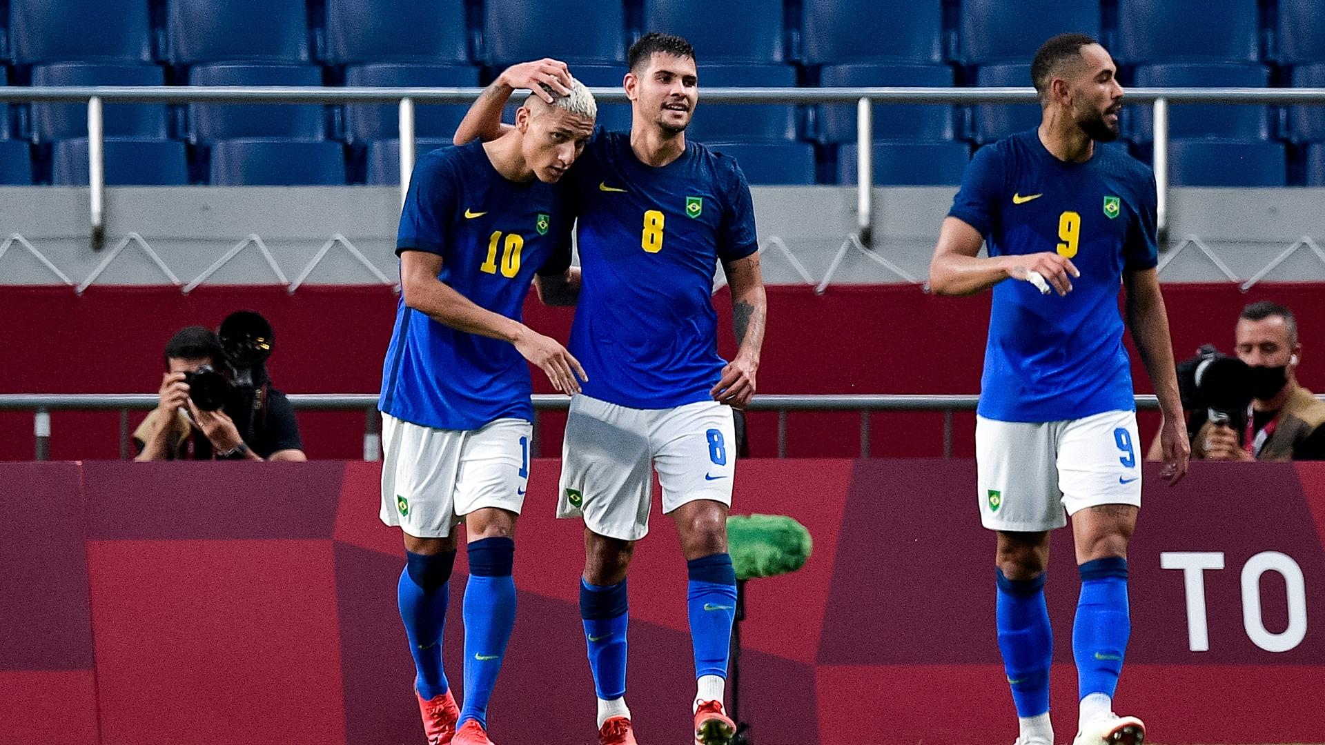 Image for Men's soccer gold medal match combined XI: Brazil v. Spain