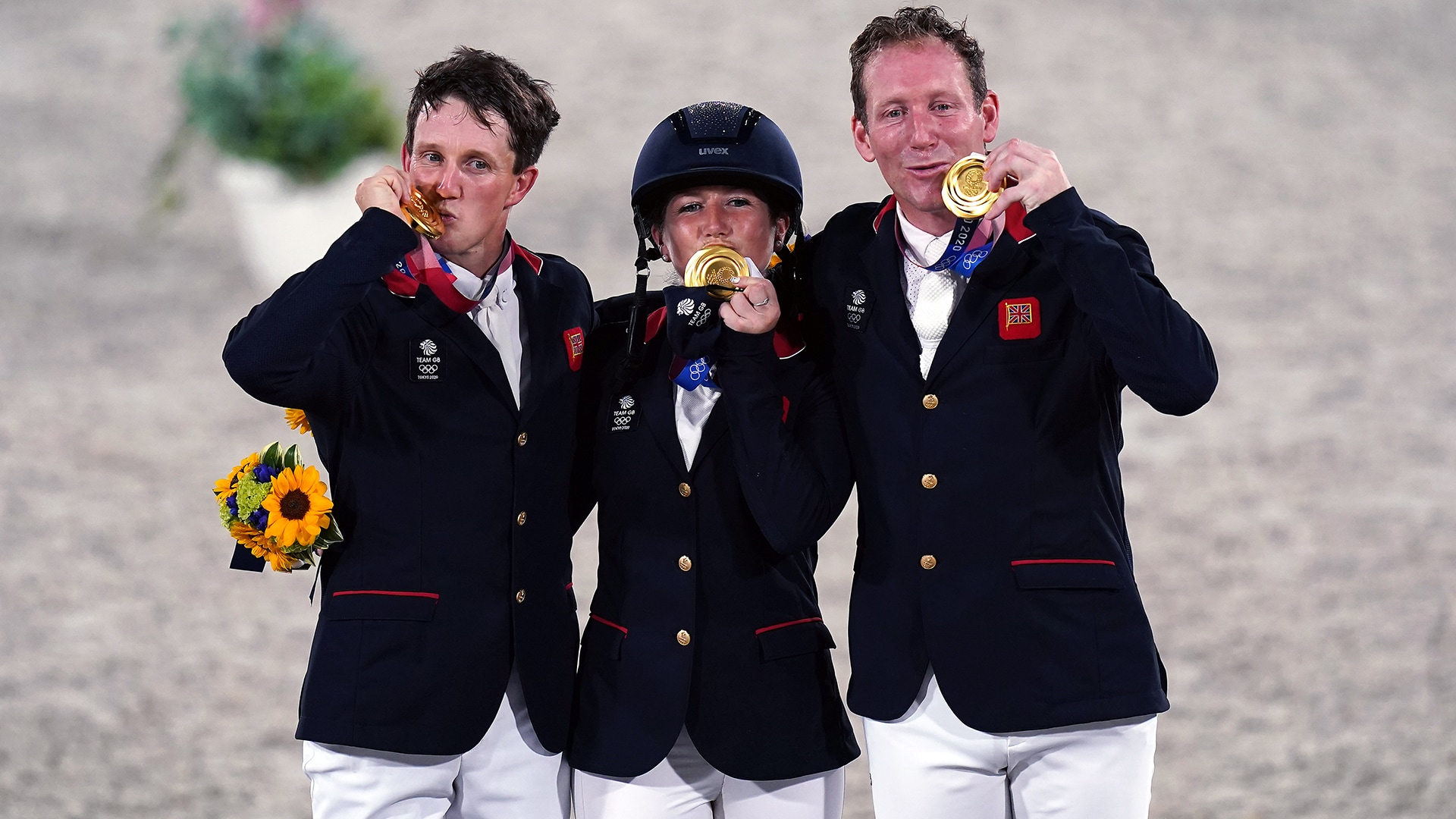Image for Britain win team eventing gold after decades in 2nd place