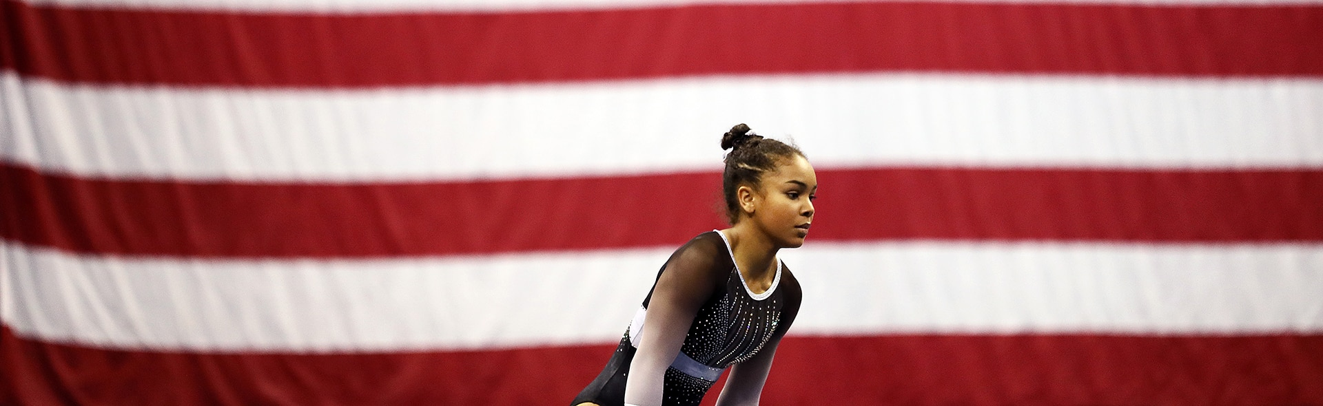 Konnor McClain competes on floor exercise during the Women's Junior competition of the 2019 U.S. Gymnastics Championships at the Sprint Center on August 11, 2019 in Kansas City, Missouri.