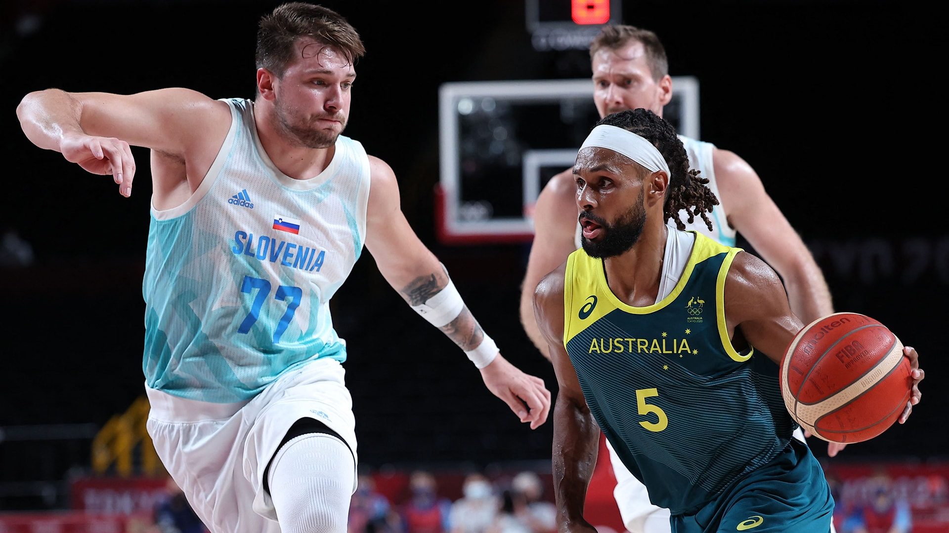 Image for Patty Mills leads Aussies past Slovenia for nation's first men's basketball medal