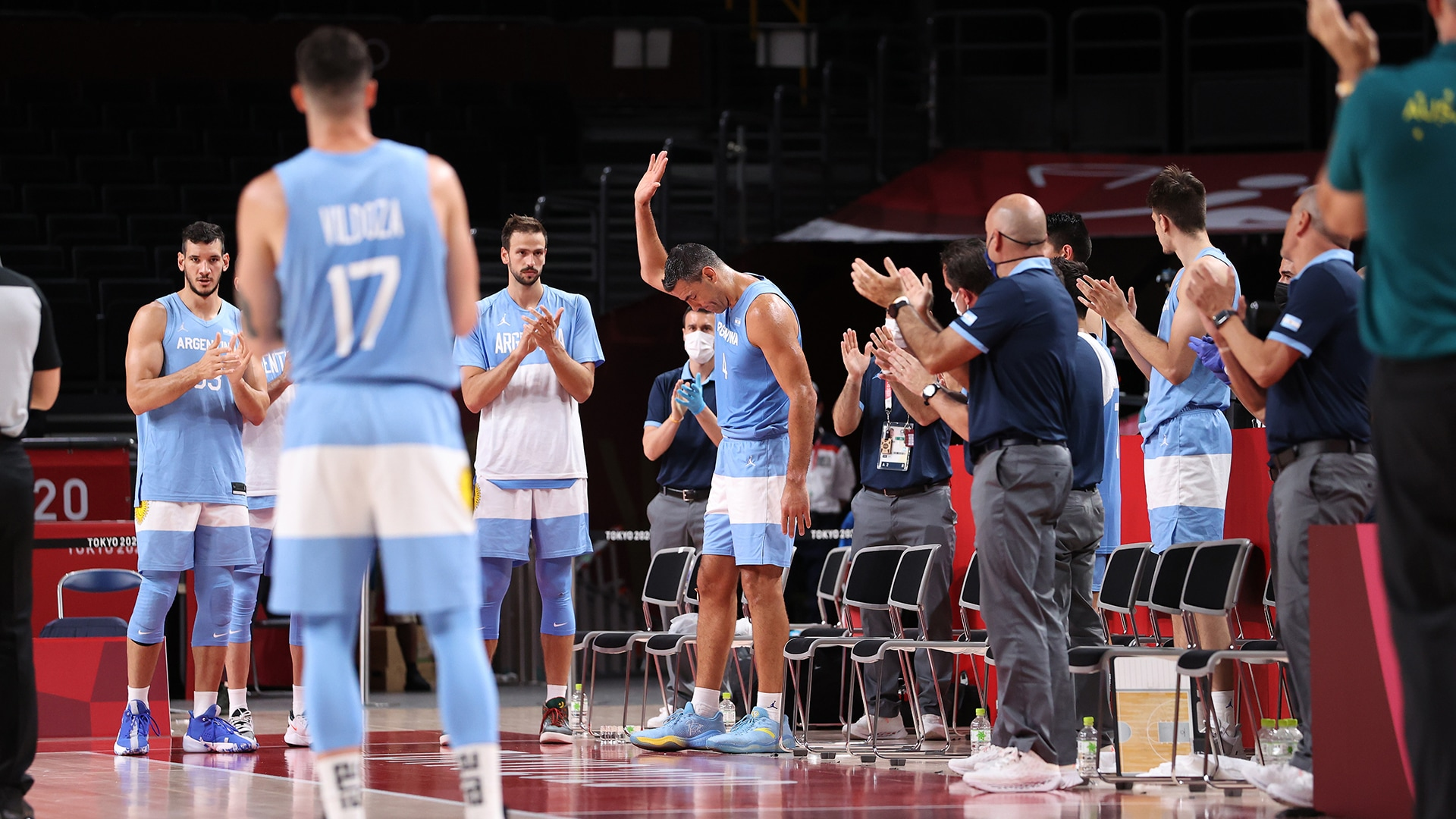 Image for Argentina's Luis Scola receives standing ovation in Tokyo finale
