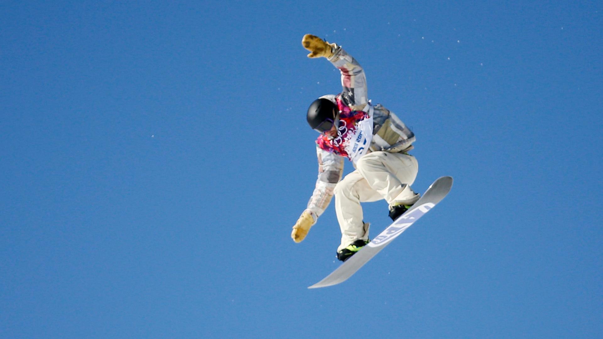 Sage Kotsenburg during his first run of men's slopestyle finals